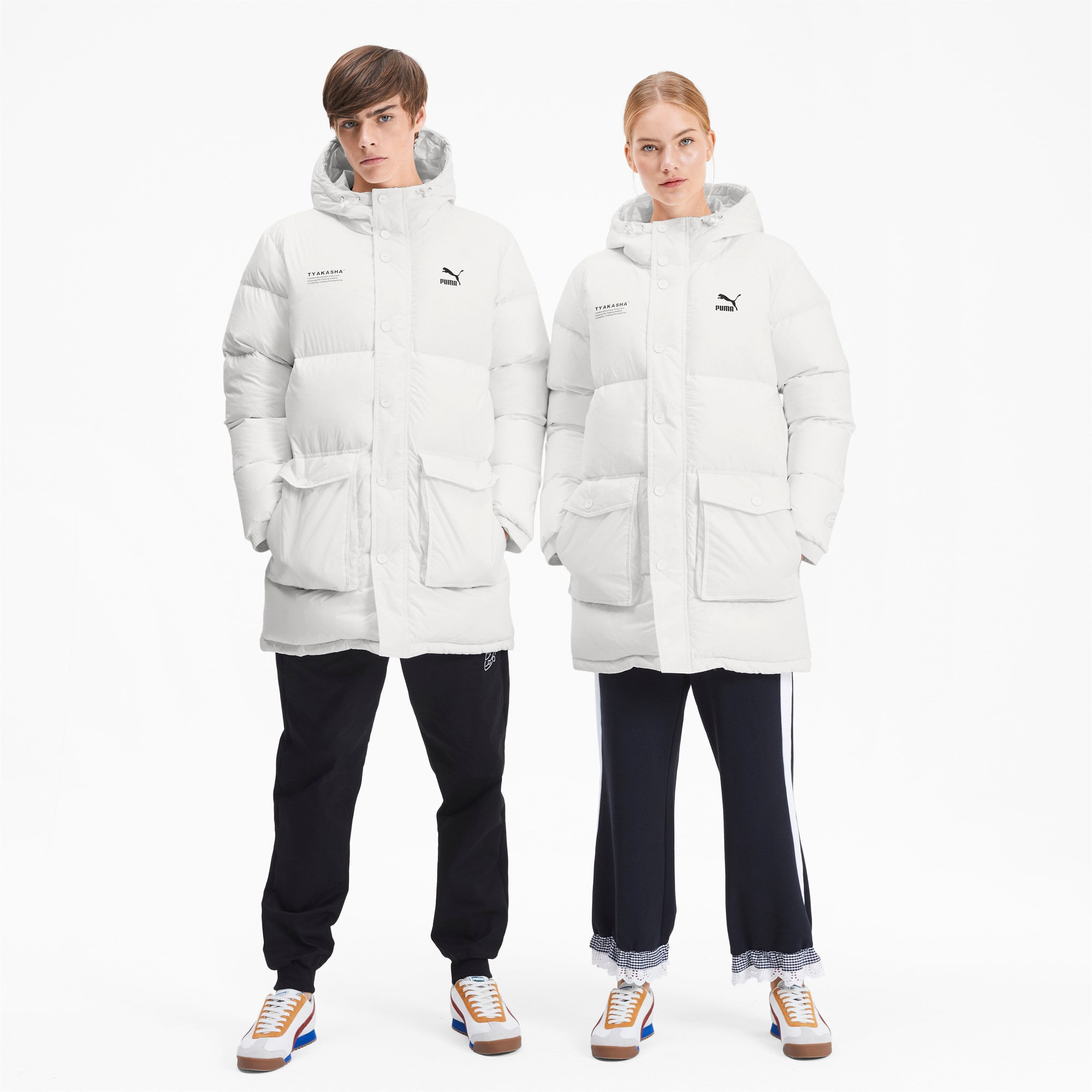Thumbnail 4 of PUMA x TYAKASHA Woven Down Parka, Puma White, medium