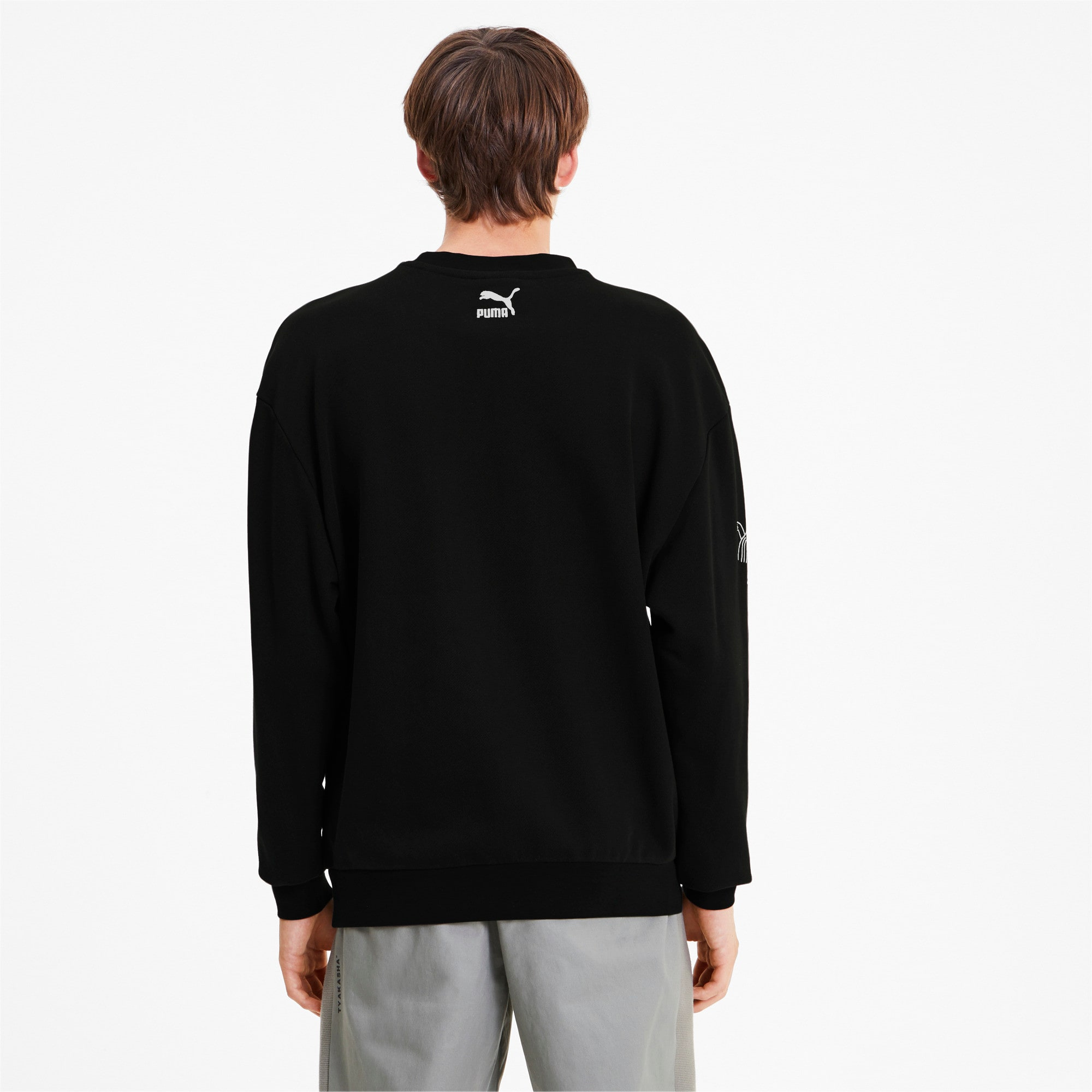 Thumbnail 3 of PUMA x TYAKASHA Crew Men's Sweater, Cotton Black, medium