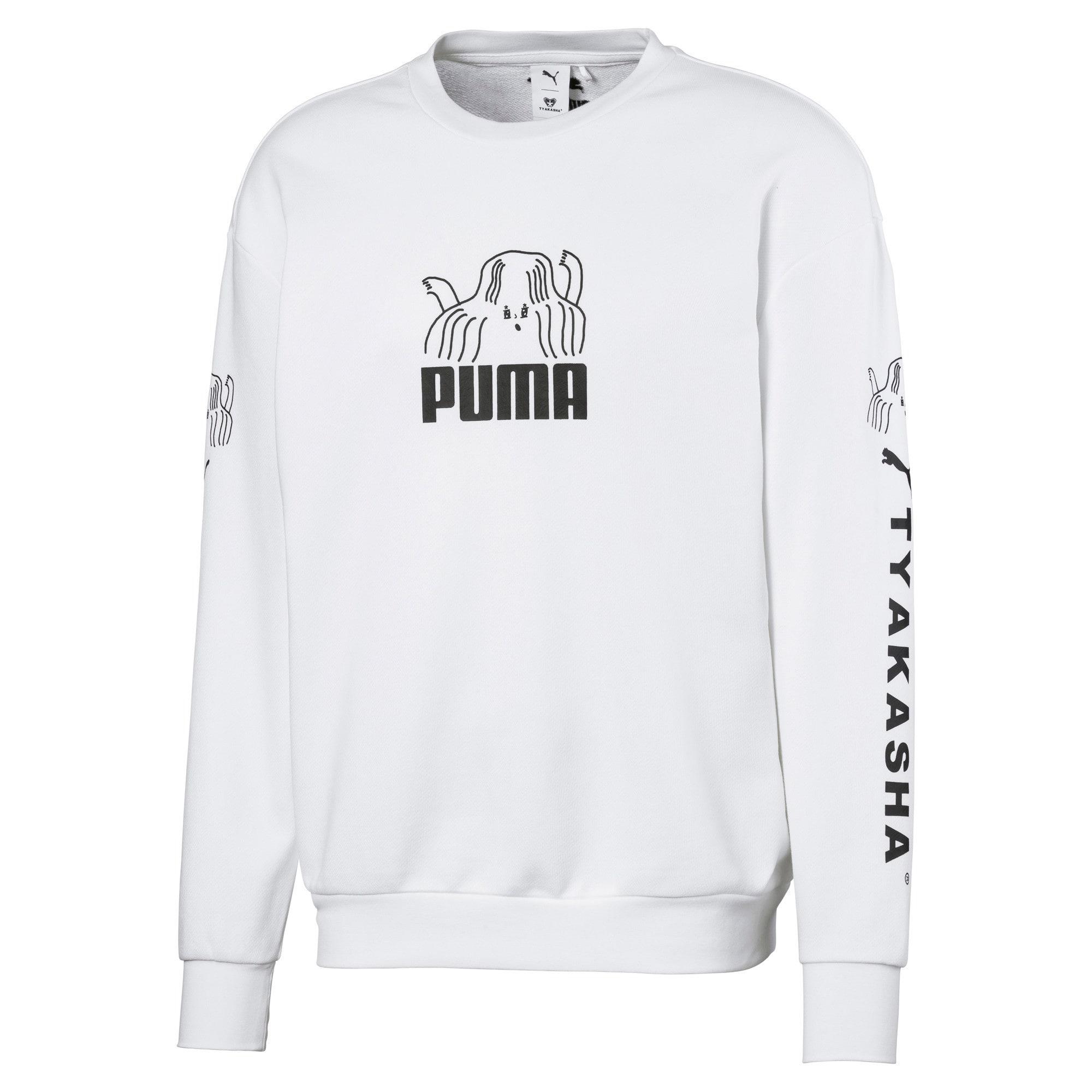 Thumbnail 1 of PUMA x TYAKASHA Crew Men's Sweater, Puma White, medium