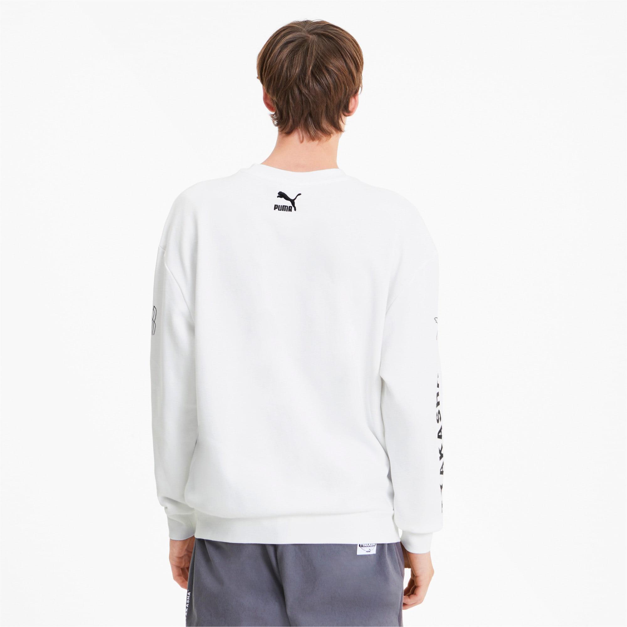 Thumbnail 3 of PUMA x TYAKASHA Crew Men's Sweater, Puma White, medium