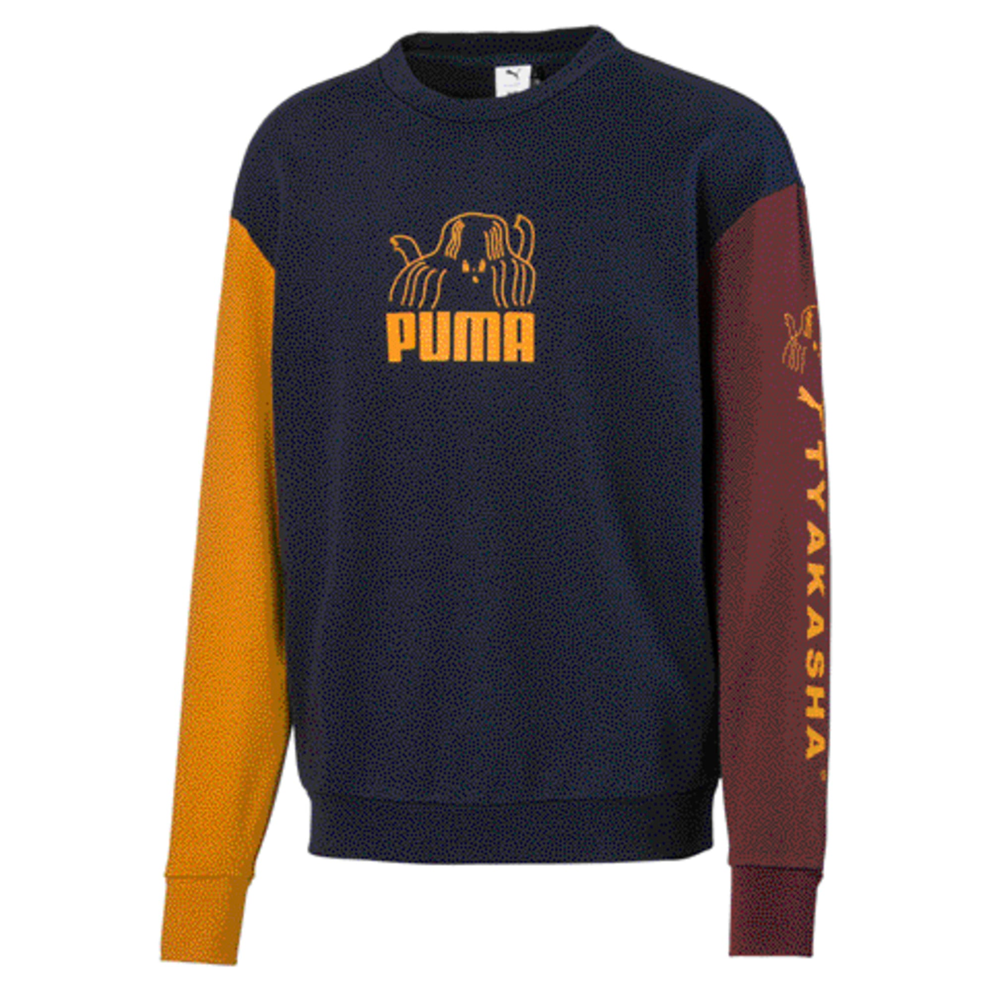 Thumbnail 1 of PUMA x TYAKASHA Crew Men's Sweater, Peacoat, medium
