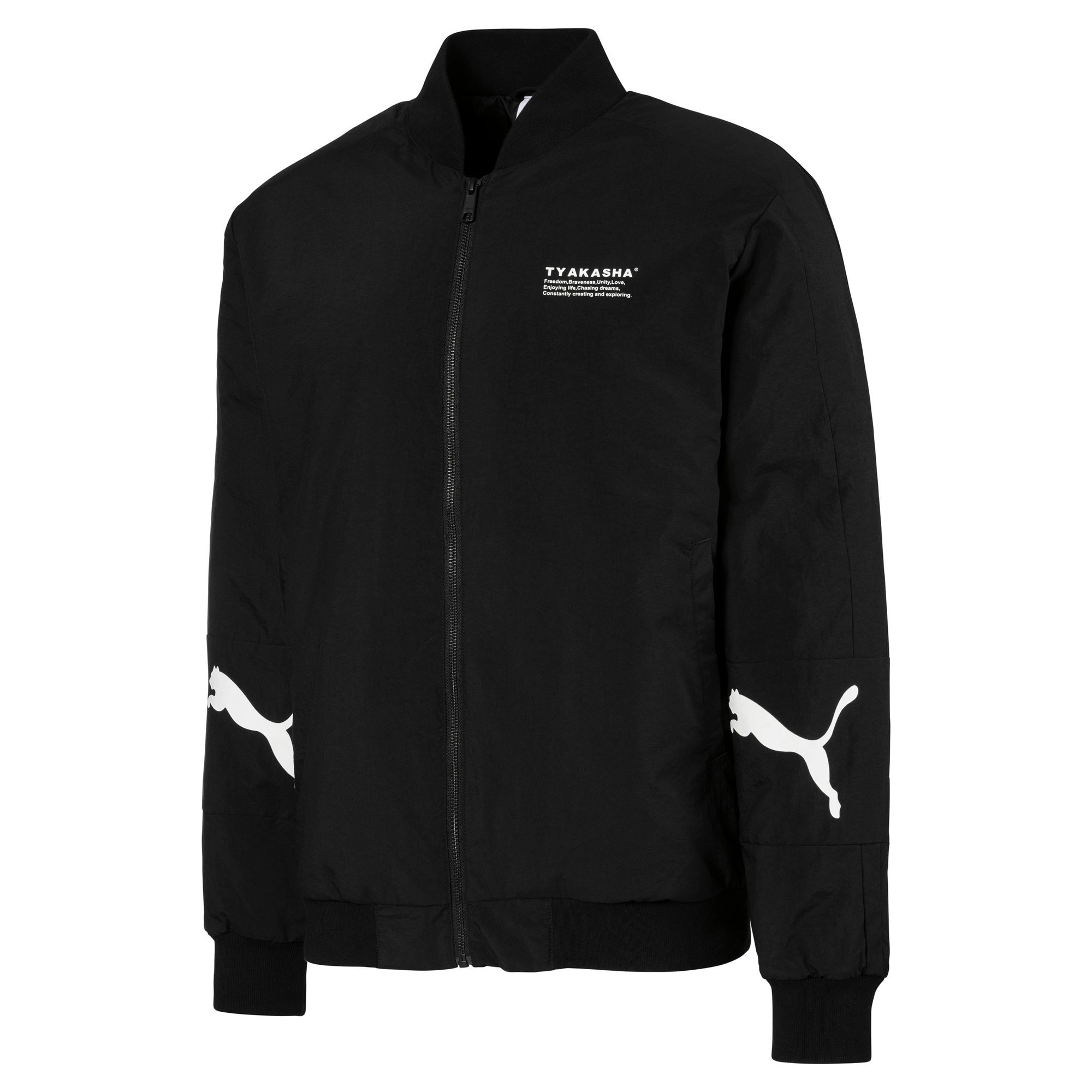 Thumbnail 1 of PUMA x TYAKASHA Woven Bomber Jacket, Puma Black, medium