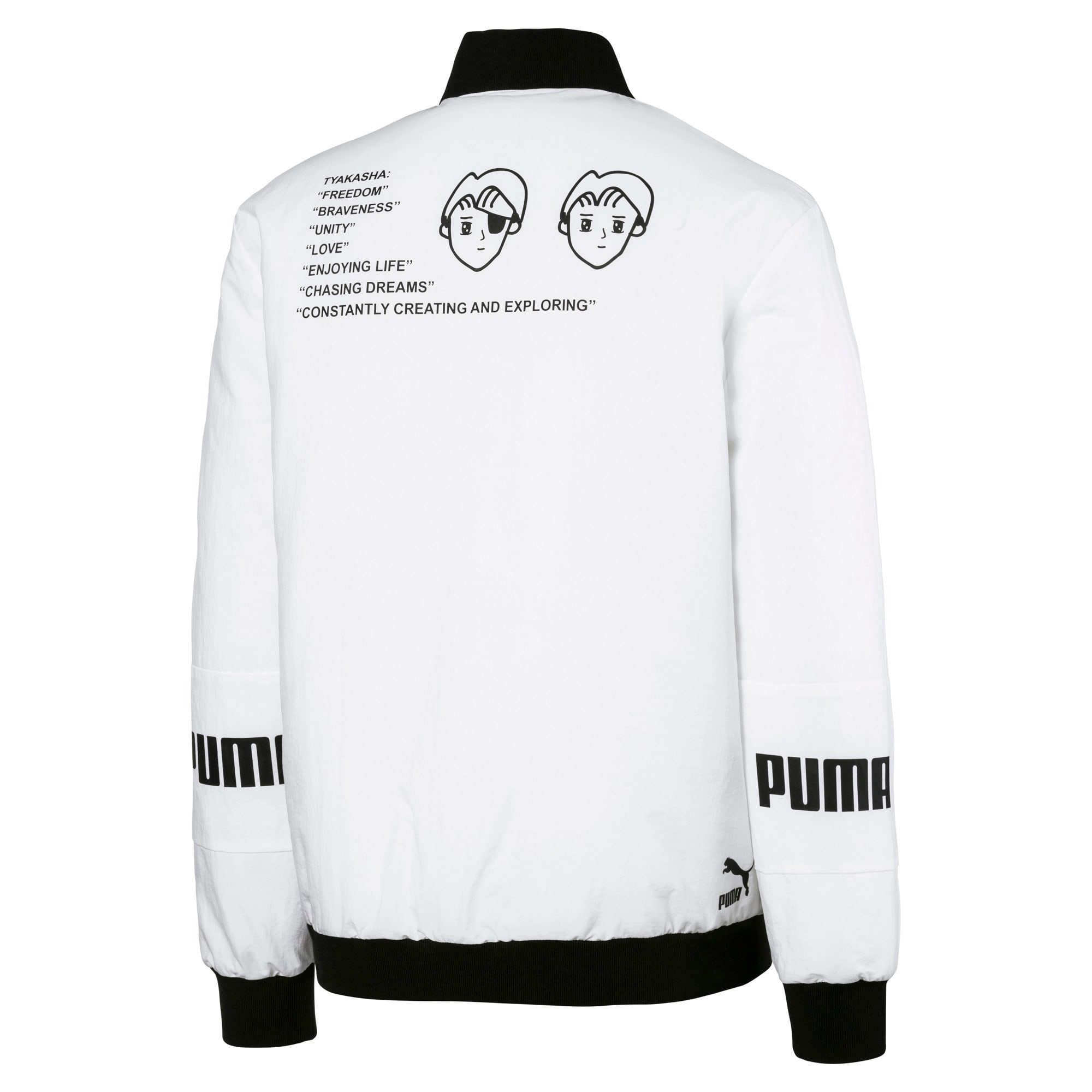 Thumbnail 5 of PUMA x TYAKASHA Woven Bomber Jacket, Puma White, medium