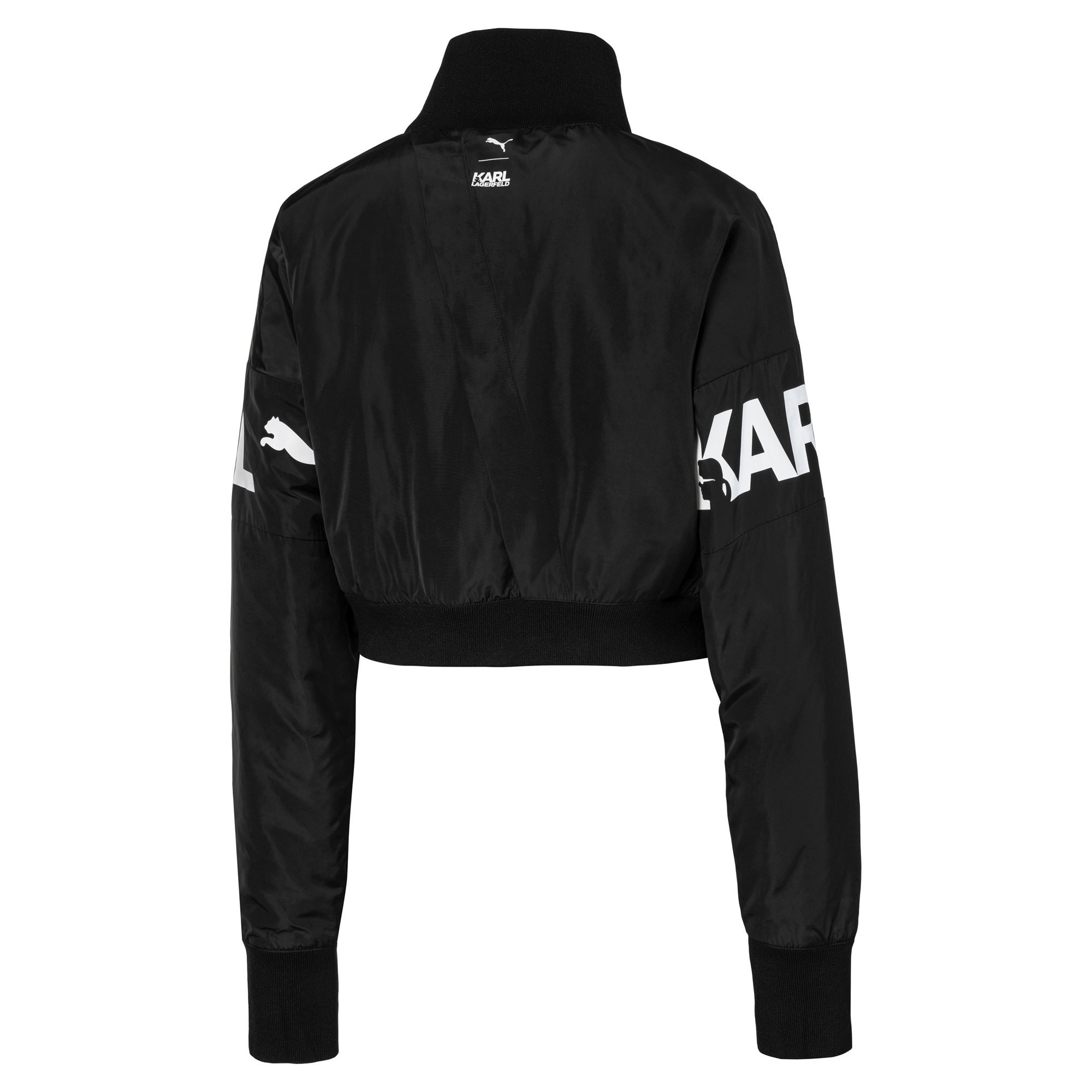 Thumbnail 4 of PUMA x KARL LAGERFELD Women's Bomber Jacket, Puma Black, medium