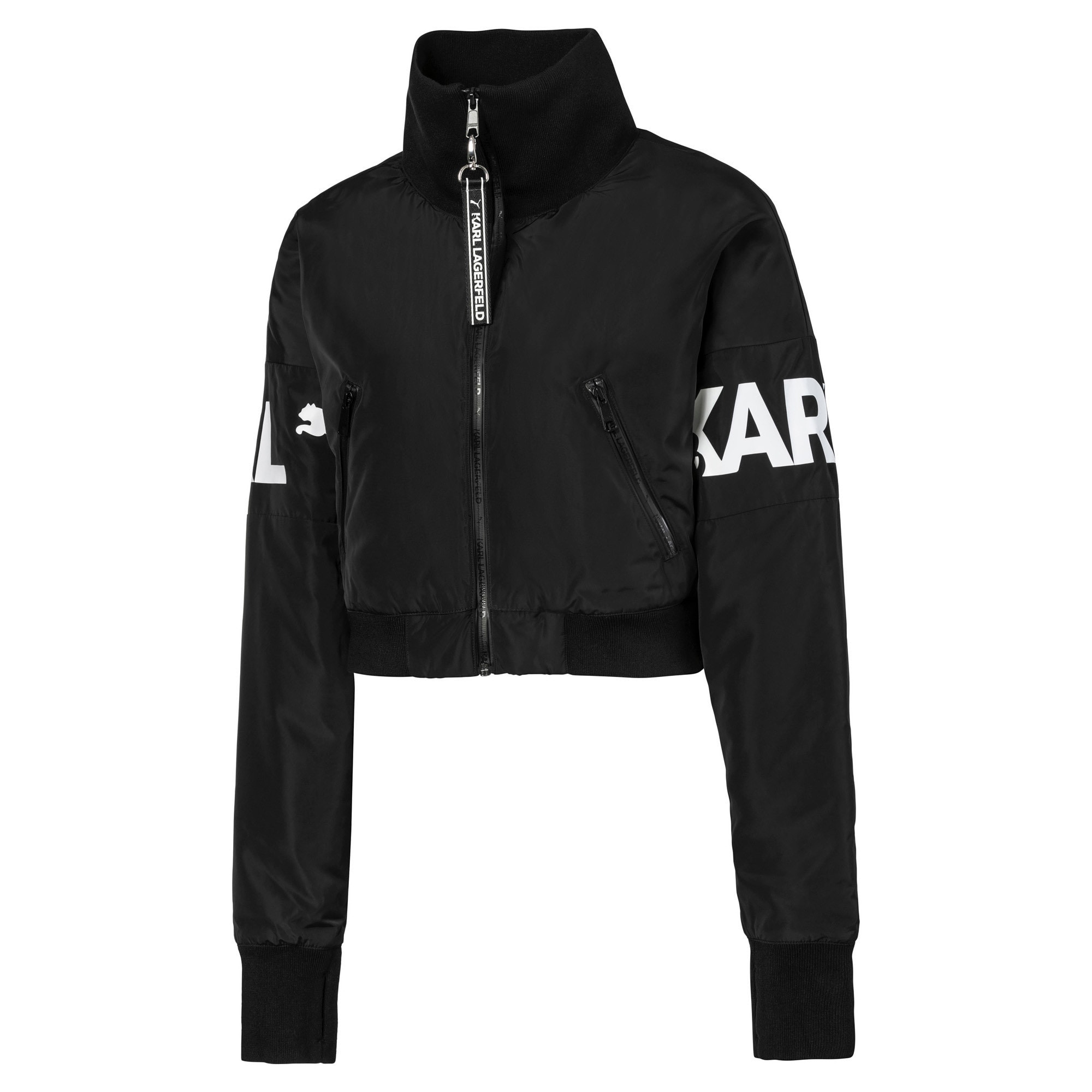 Thumbnail 5 of PUMA x KARL LAGERFELD Women's Bomber Jacket, Puma Black, medium