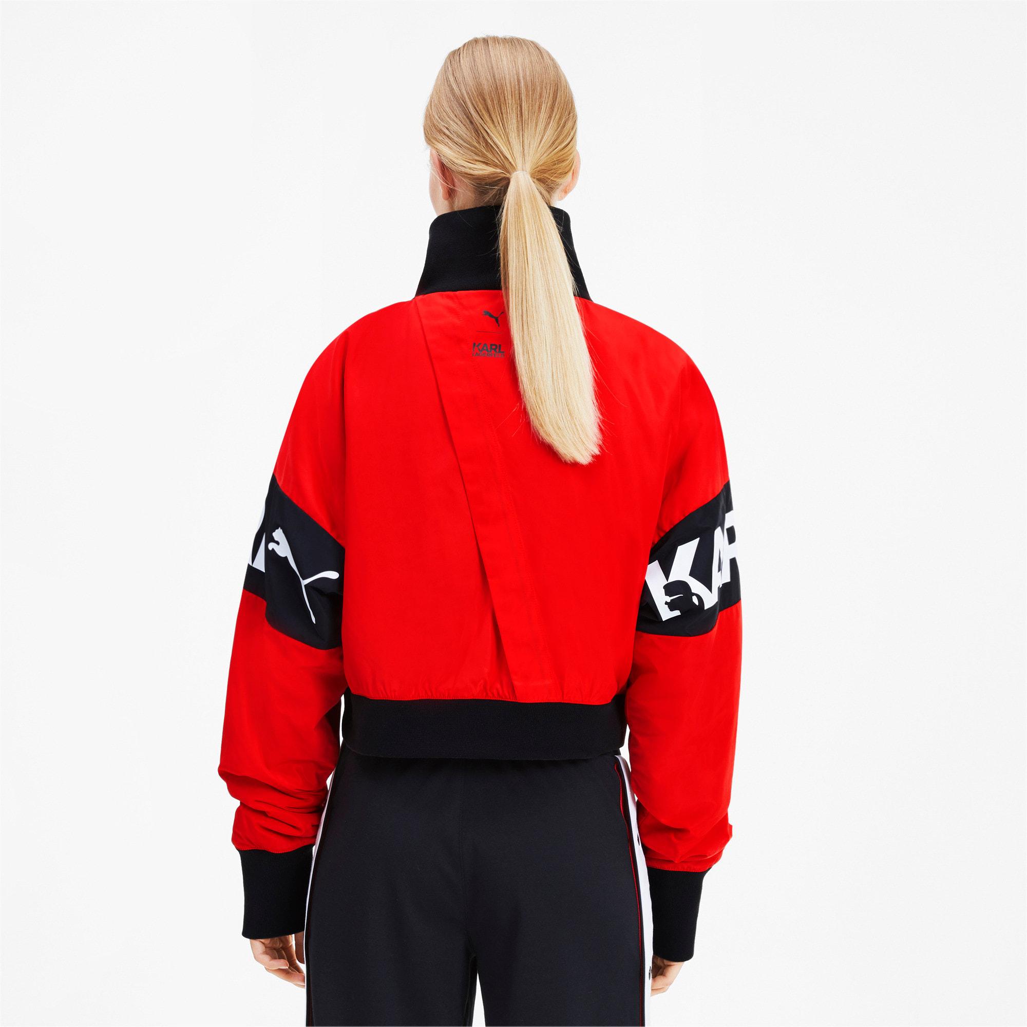 Thumbnail 2 of PUMA x KARL LAGERFELD Damen Bomberjacke, High Risk Red, medium