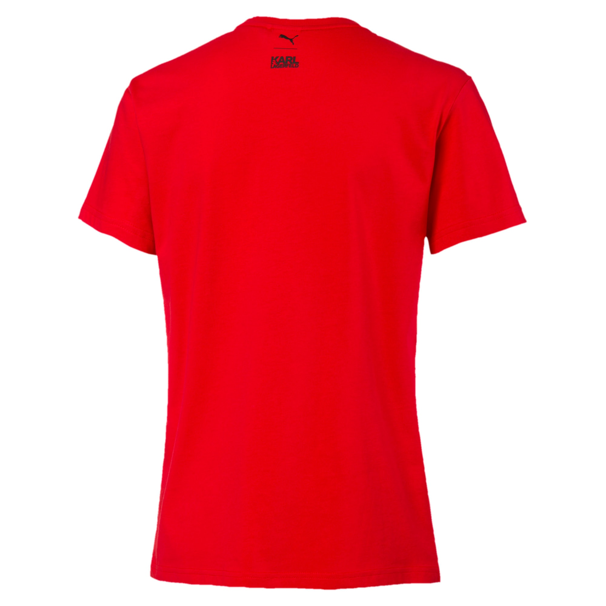 PUMA x KARL LAGERFELD Damen T-Shirt, High Risk Red, large