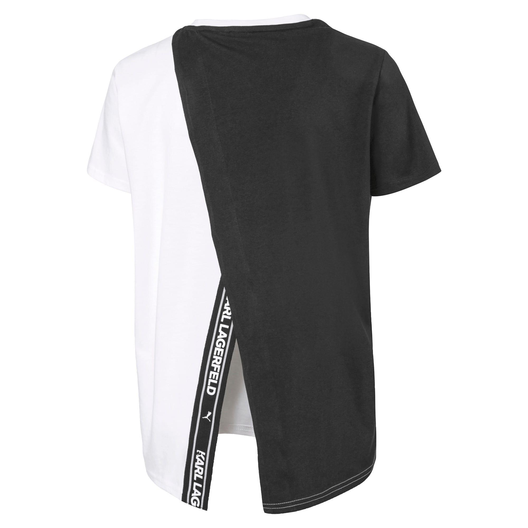 Miniatura 2 de Camiseta de espalda abierta PUMA x KARL LAGERFELD para mujer, Puma Black, mediano