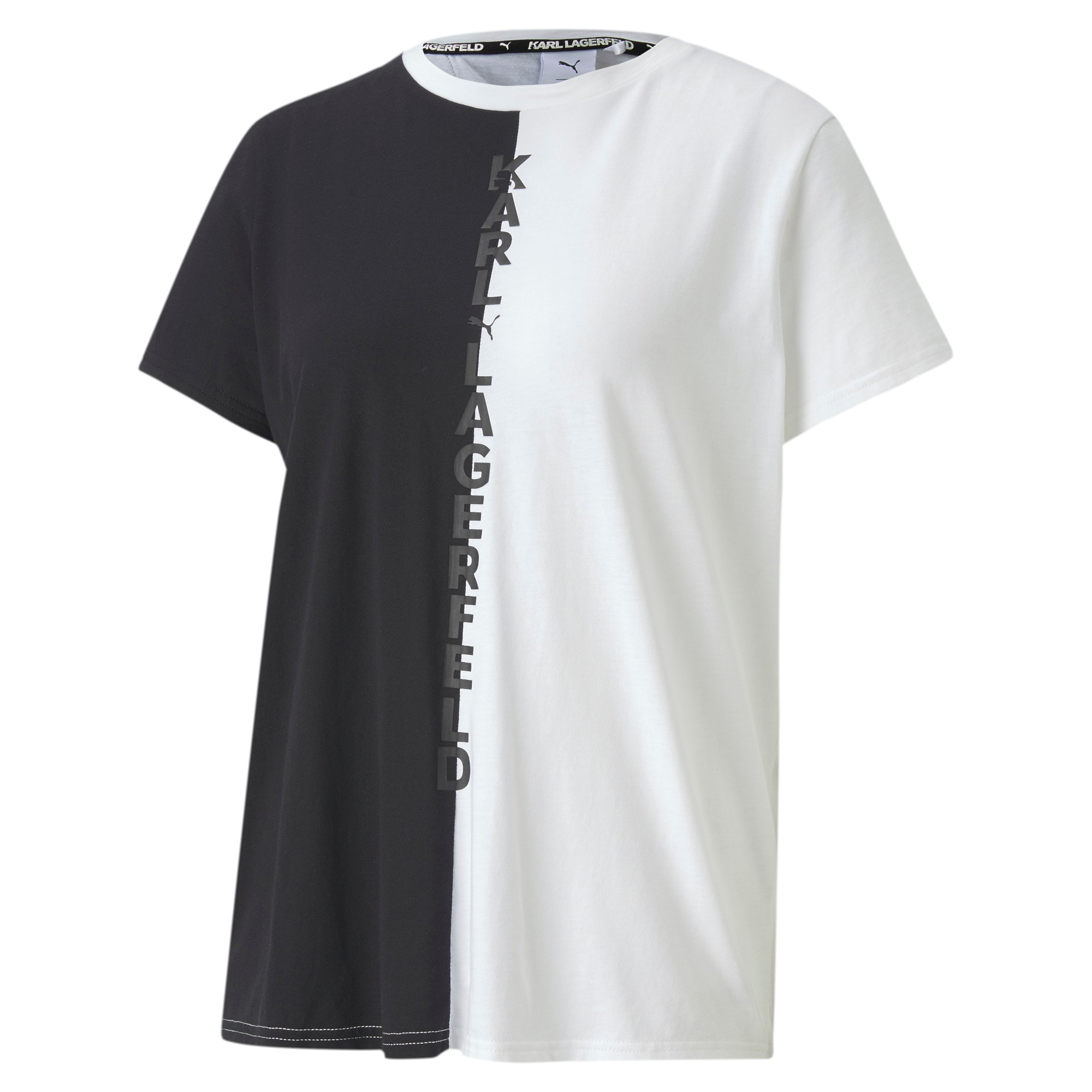 Thumbnail 1 of PUMA x KARL LAGERFELD Women's Open Back Tee, Puma Black, medium