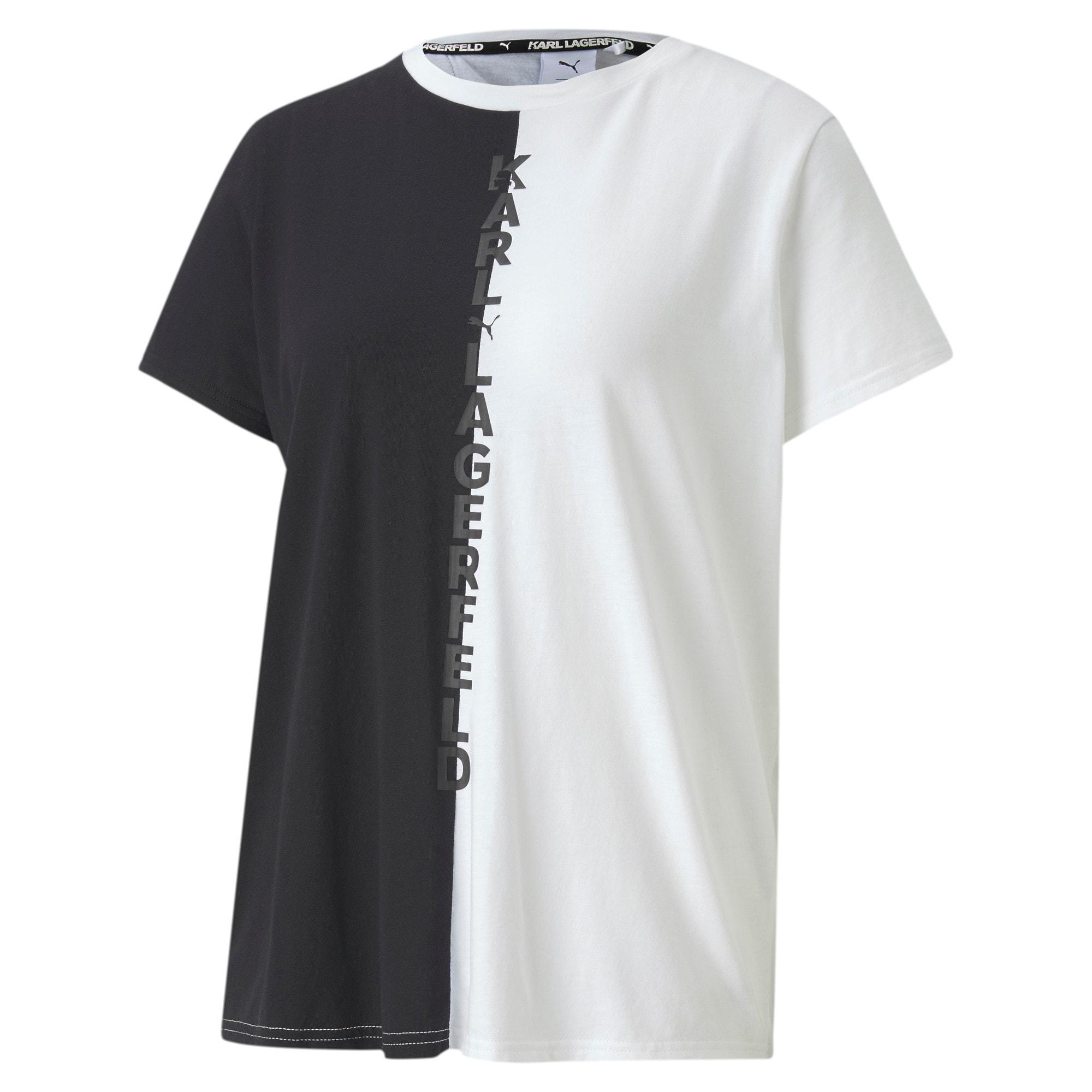 Miniatura 1 de Camiseta de espalda abierta PUMA x KARL LAGERFELD para mujer, Puma Black, mediano