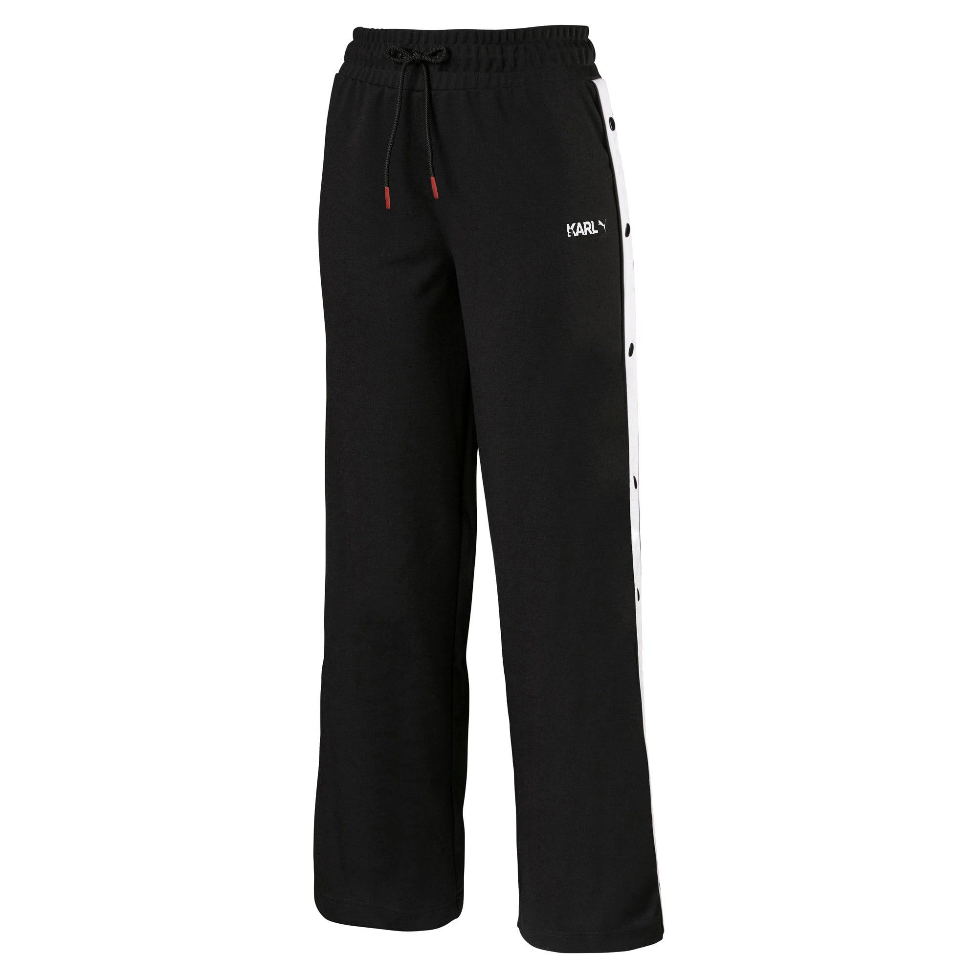 Anteprima 4 di PUMA x KARL LAGERFELD Knitted Women's Wide Pants, Puma Black, medio