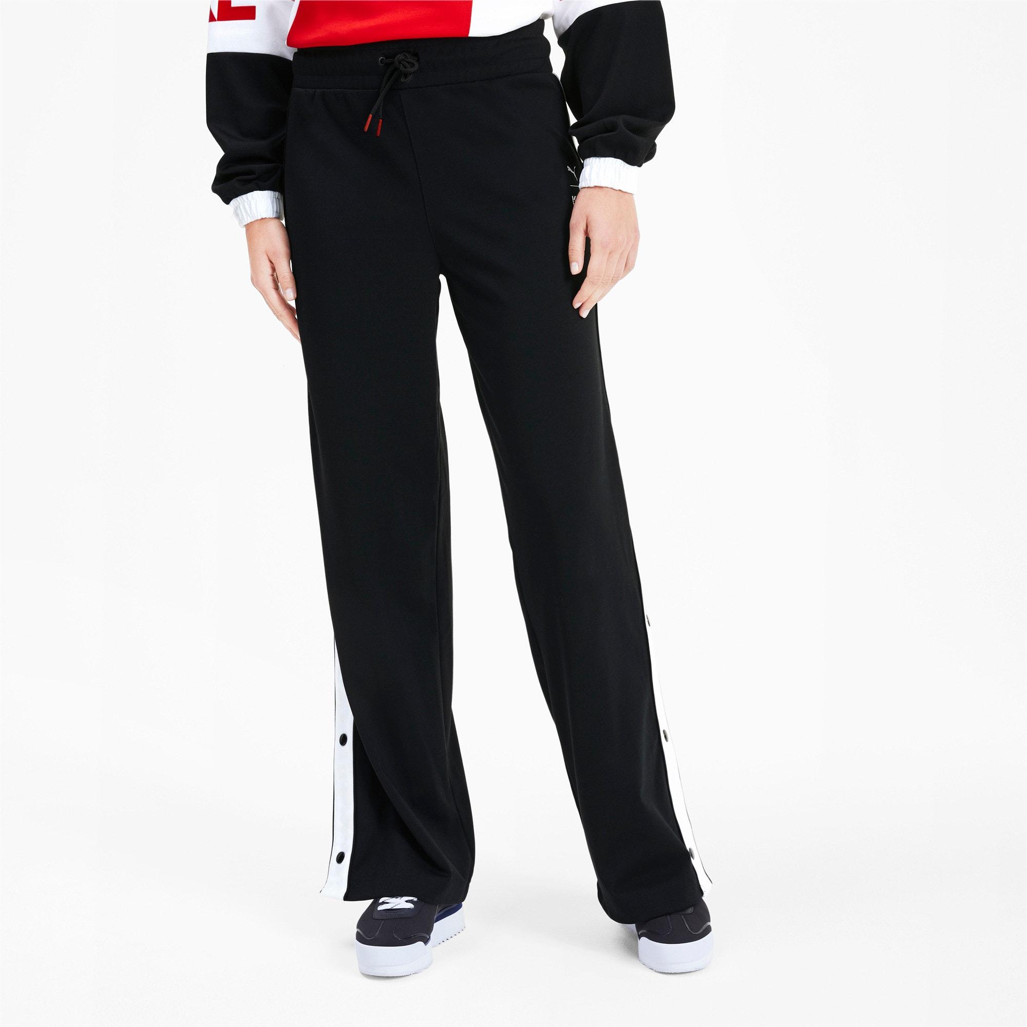 Anteprima 1 di PUMA x KARL LAGERFELD Knitted Women's Wide Pants, Puma Black, medio