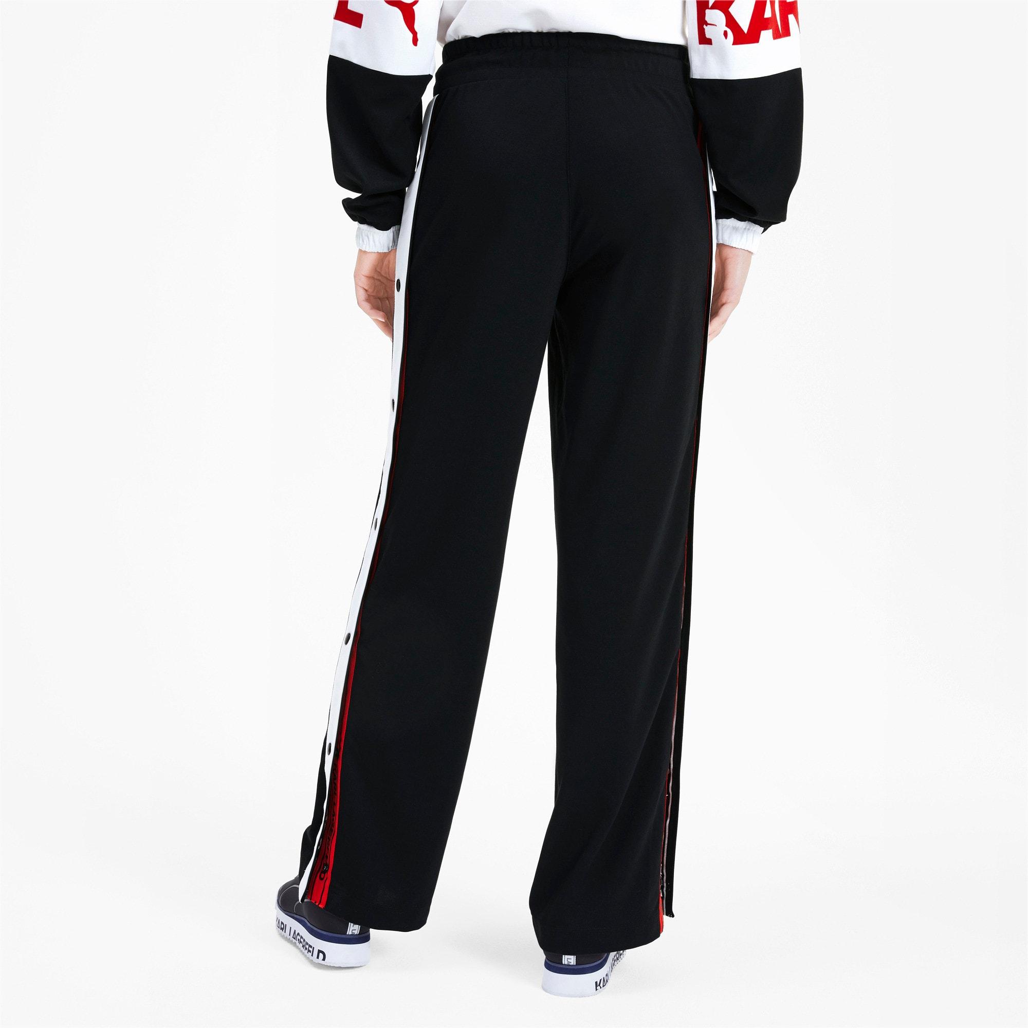 Anteprima 2 di PUMA x KARL LAGERFELD Knitted Women's Wide Pants, Puma Black, medio
