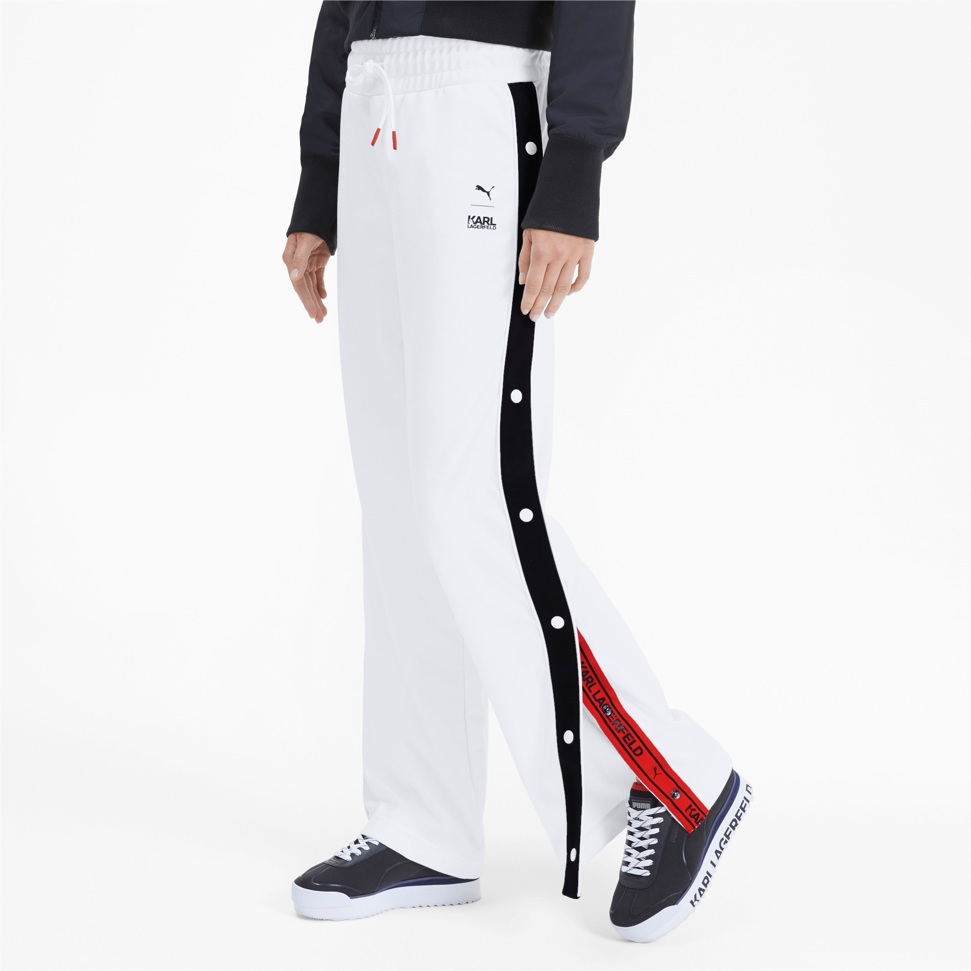 Thumbnail 1 of PUMA x KARL LAGERFELD Women's Wide Pants, Puma White, medium