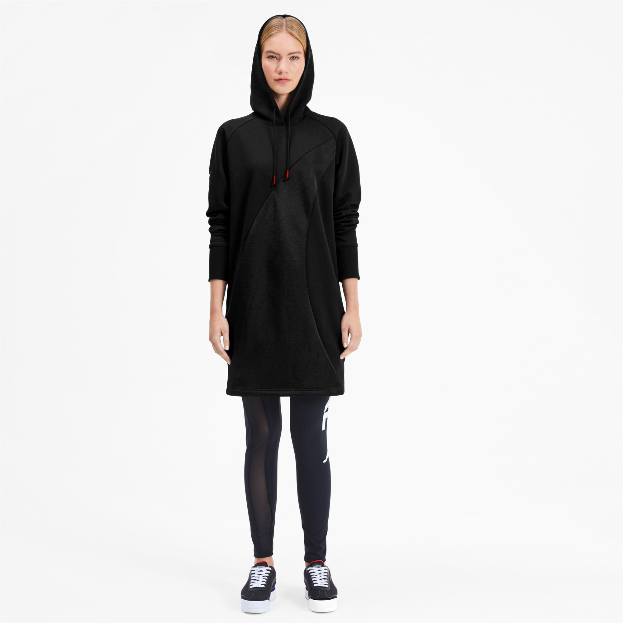 Thumbnail 4 of PUMA x KARL LAGERFELD Hooded Women's Dress, Puma Black, medium