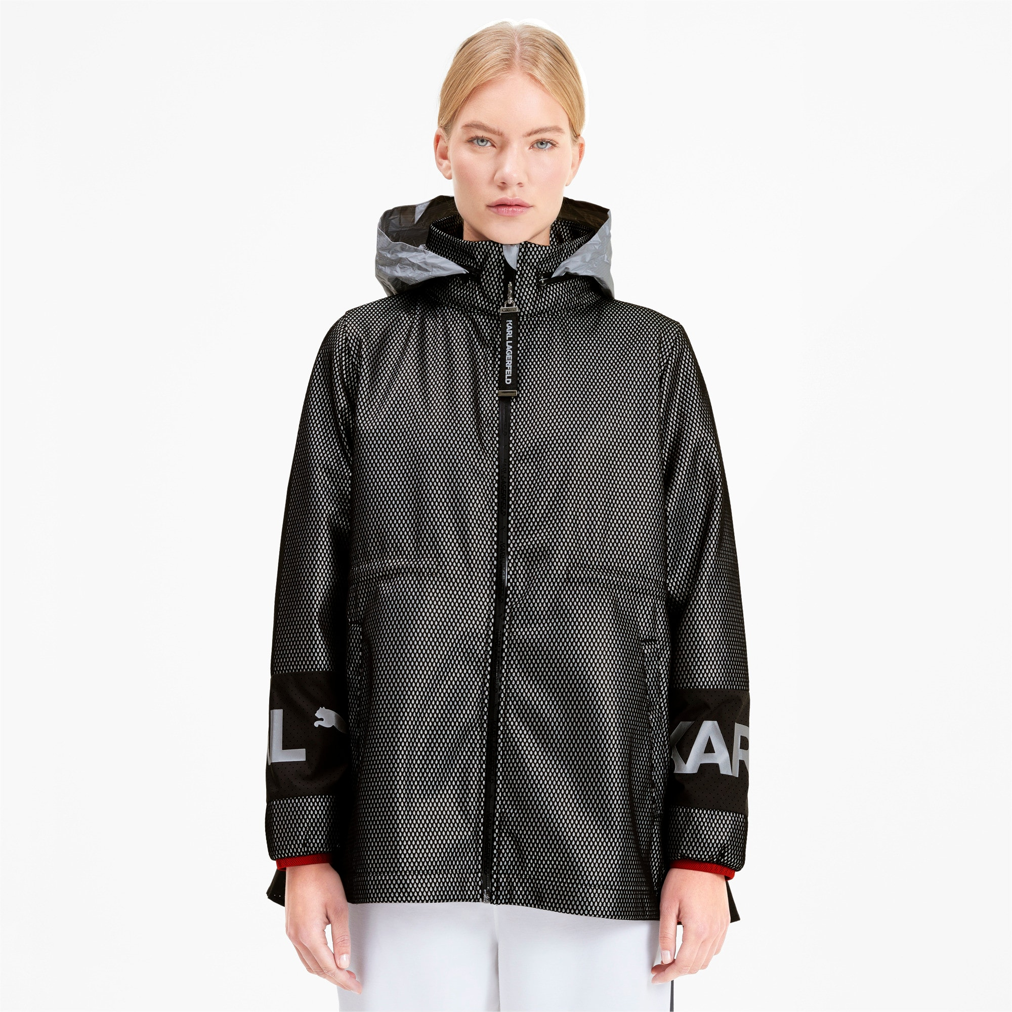 Thumbnail 1 of PUMA x KARL LAGERFELD Damen Outerwear Jacke, Puma Black, medium