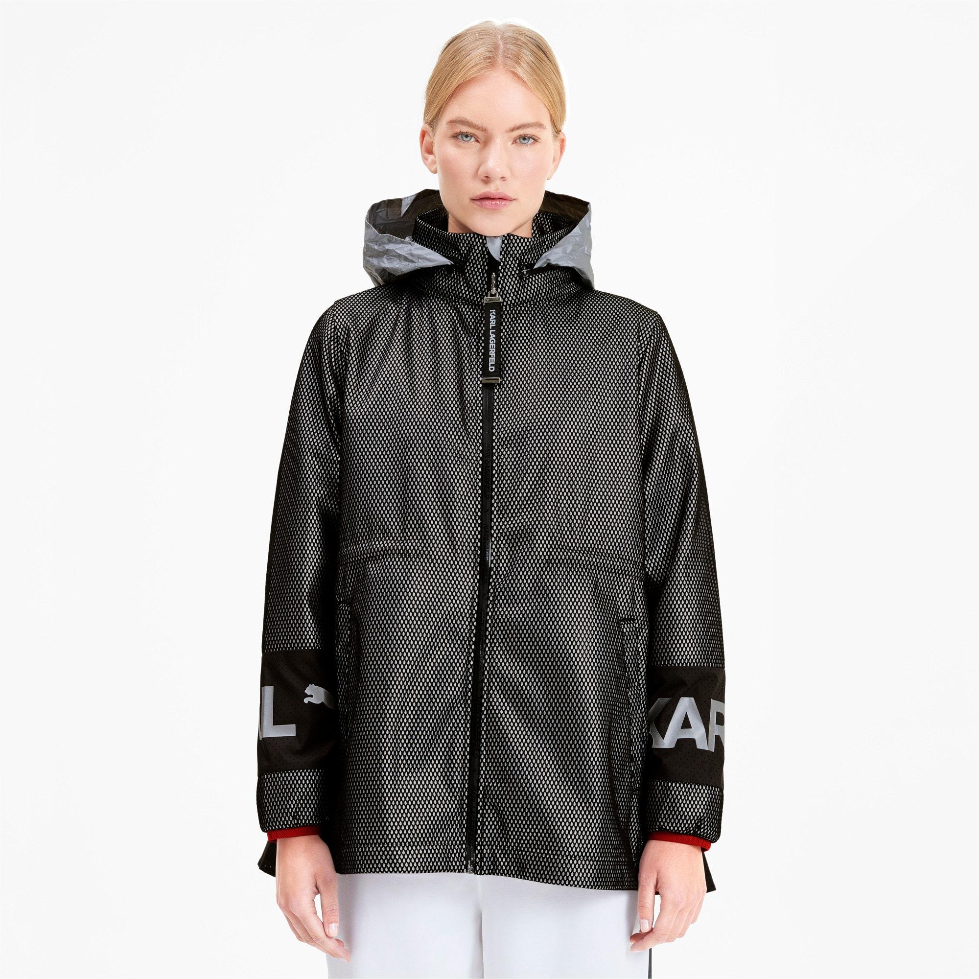 Thumbnail 1 of PUMA x KARL LAGERFELD Women's Outerwear Jacket, Puma Black, medium