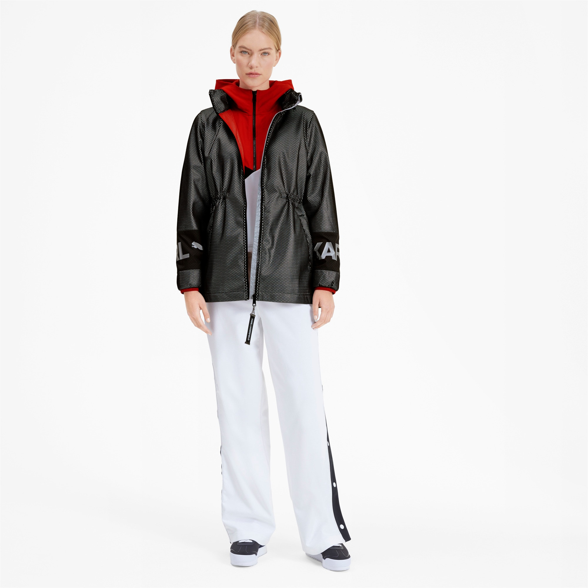 Thumbnail 3 of PUMA x KARL LAGERFELD Damen Outerwear Jacke, Puma Black, medium