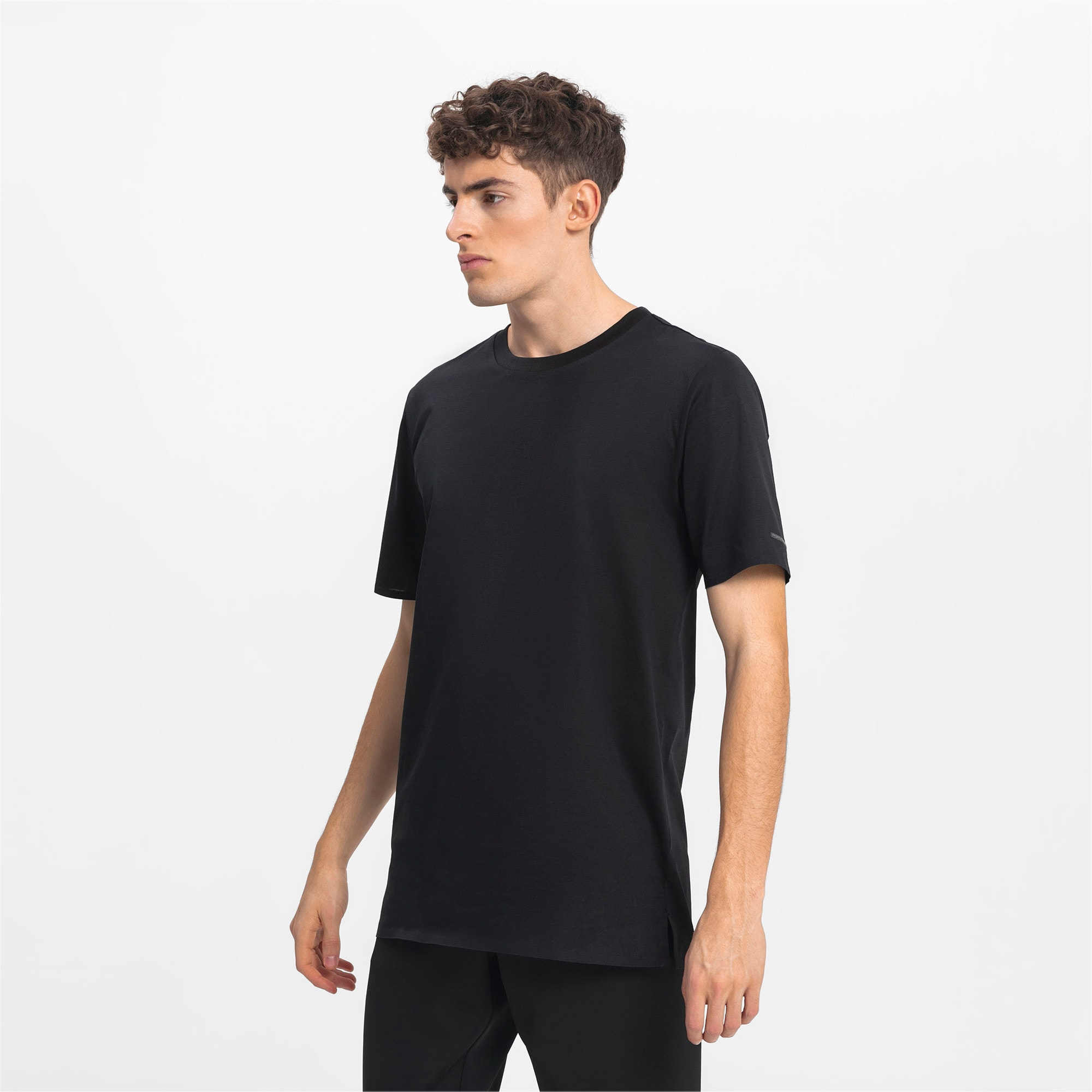 Thumbnail 1 of Porsche Design Men's Essential Tee, Jet Black, medium