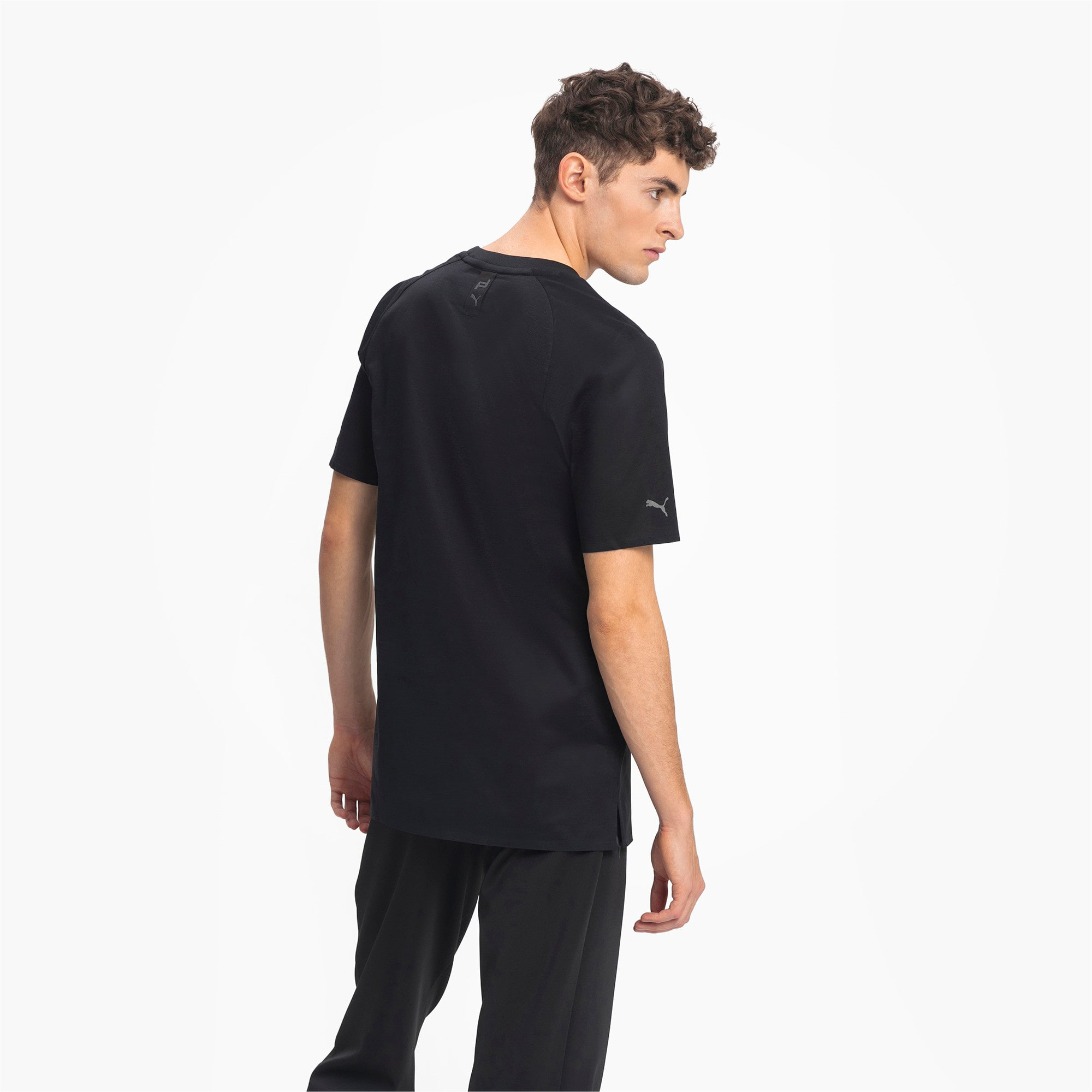 Thumbnail 2 of Porsche Design Men's Essential Tee, Jet Black, medium