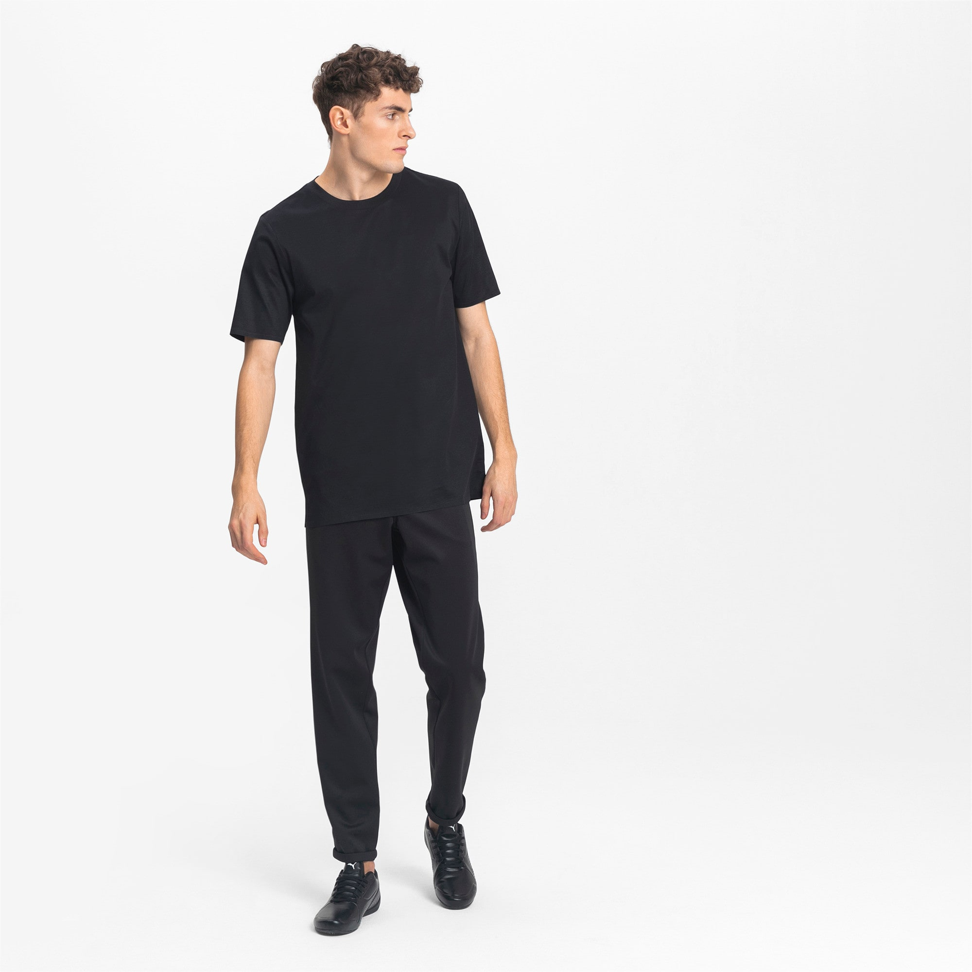 Thumbnail 3 of Porsche Design Men's Essential Tee, Jet Black, medium