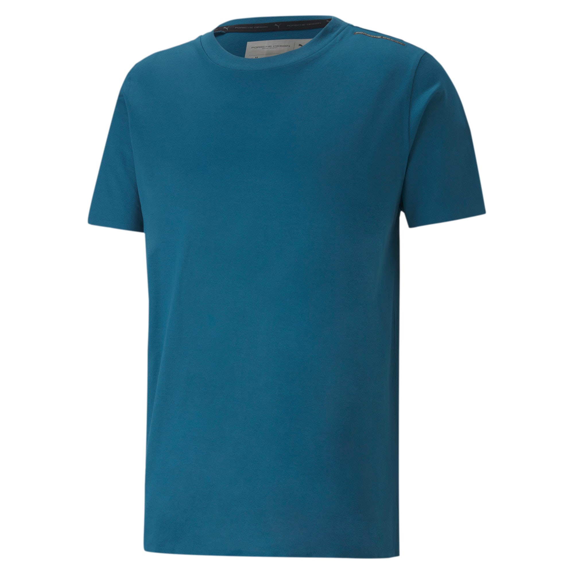 Thumbnail 4 of Porsche Design Men's Essential Tee, Moroccan Blue, medium