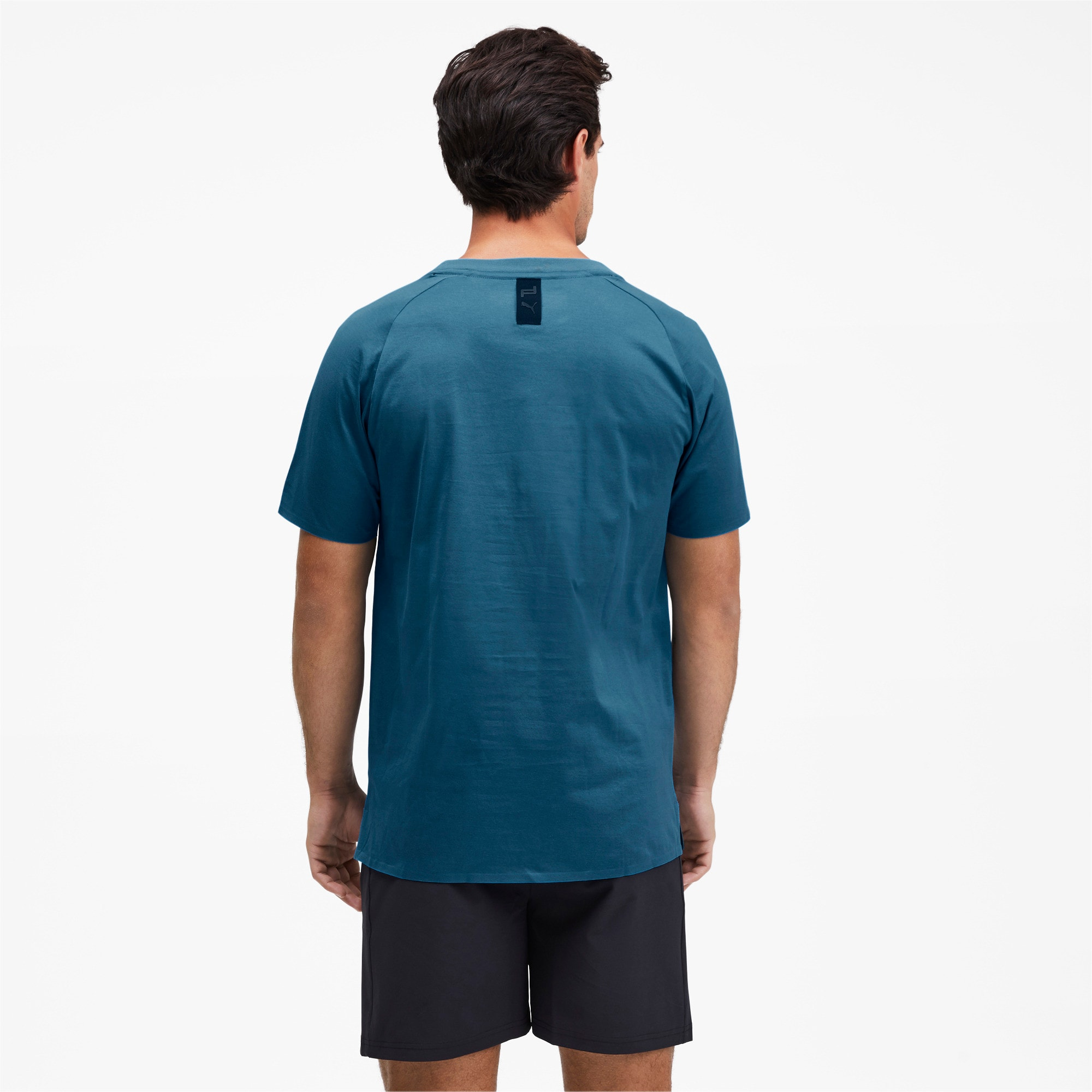 Thumbnail 2 of Porsche Design Men's Essential Tee, Moroccan Blue, medium