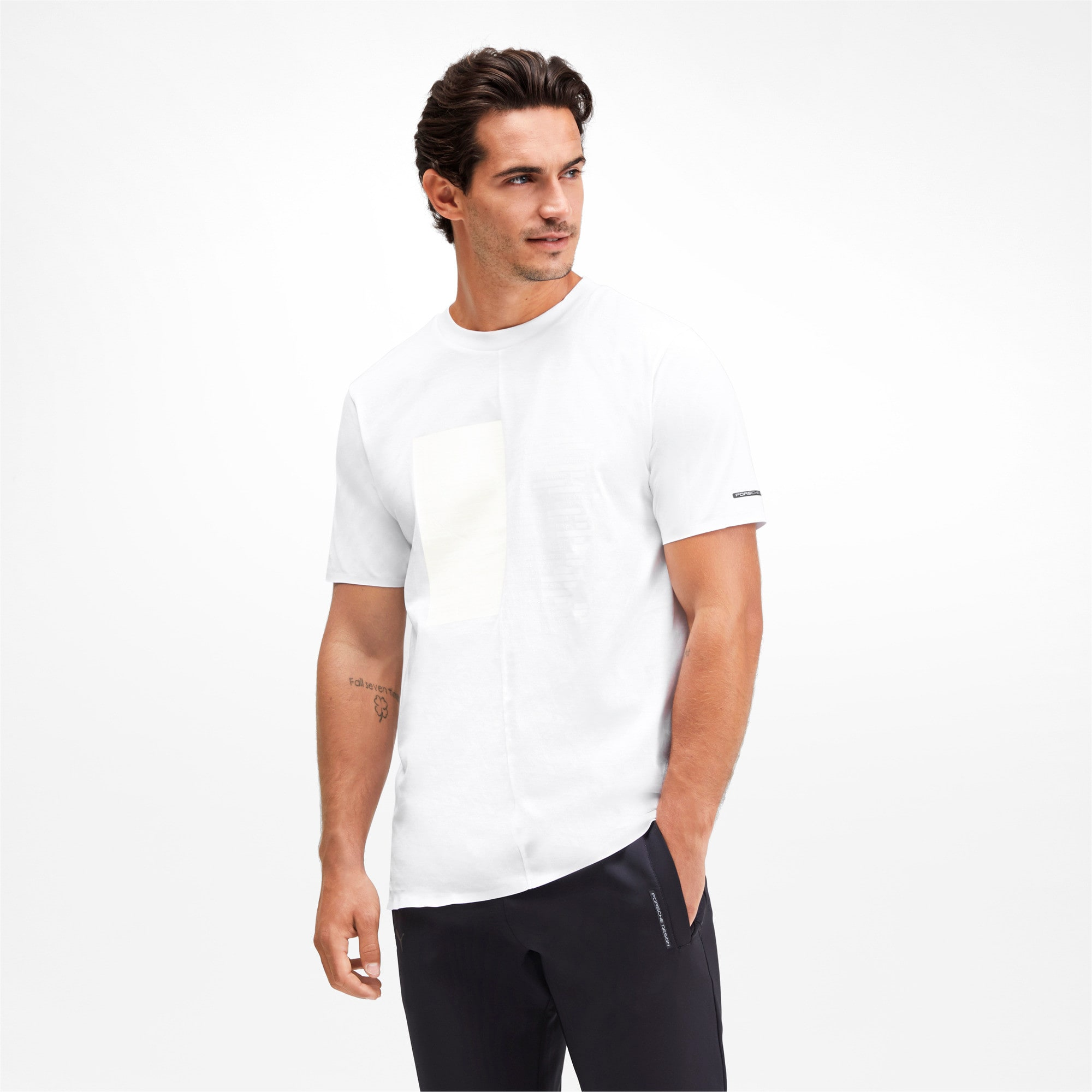 Thumbnail 1 of M ポルシェデザイン PD グラフィック Tシャツ, Puma White, medium-JPN