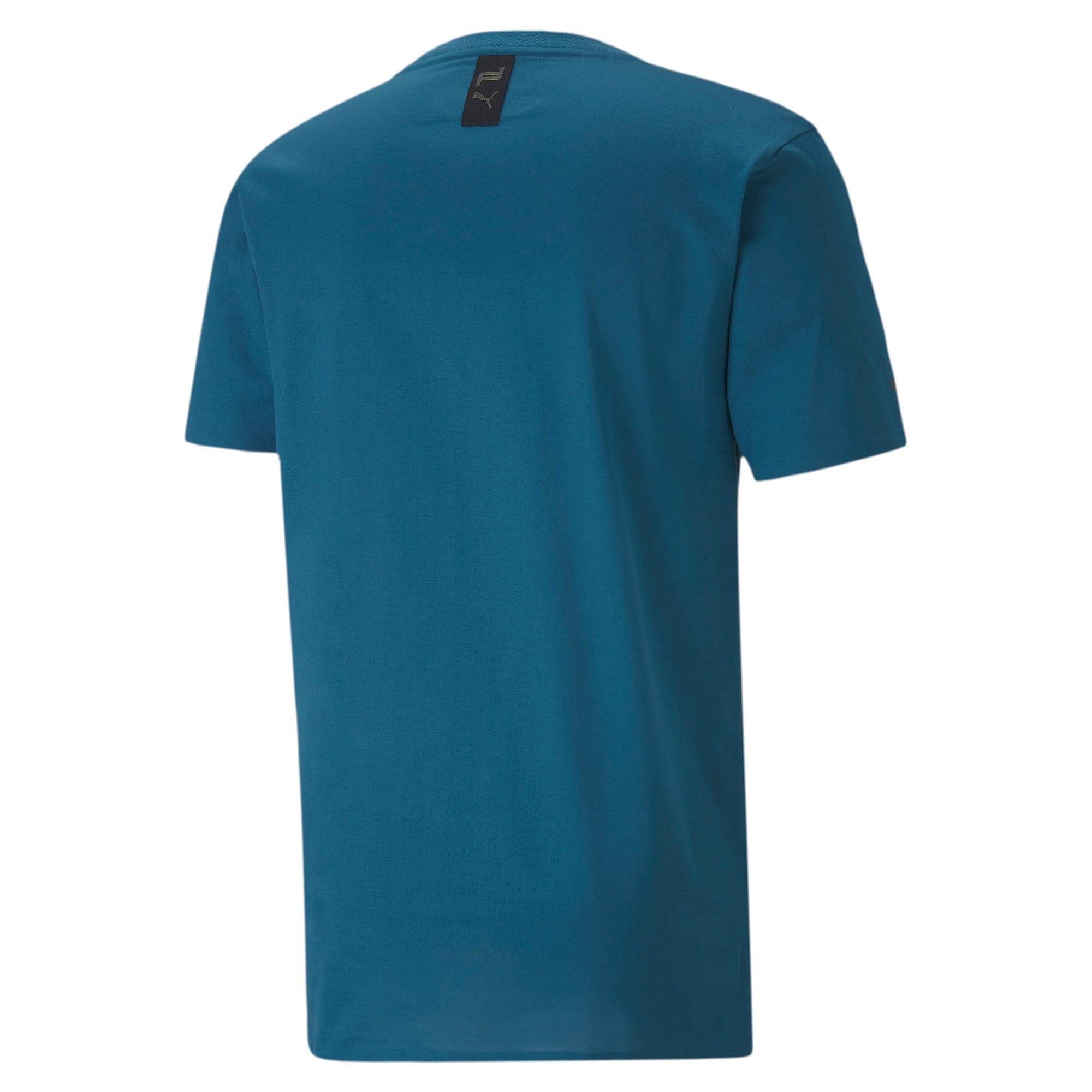 Thumbnail 6 of M ポルシェデザイン PD グラフィック Tシャツ, Moroccan Blue, medium-JPN