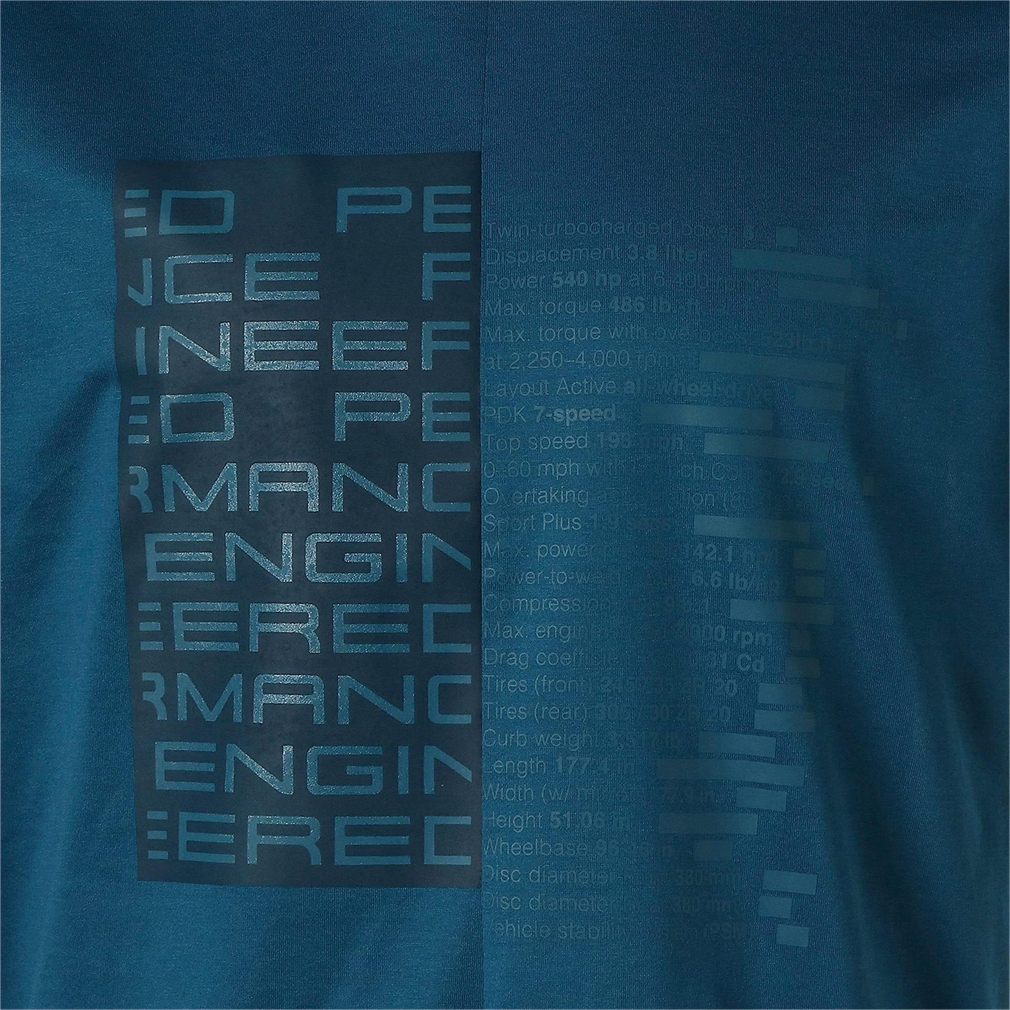 Thumbnail 10 of M ポルシェデザイン PD グラフィック Tシャツ, Moroccan Blue, medium-JPN