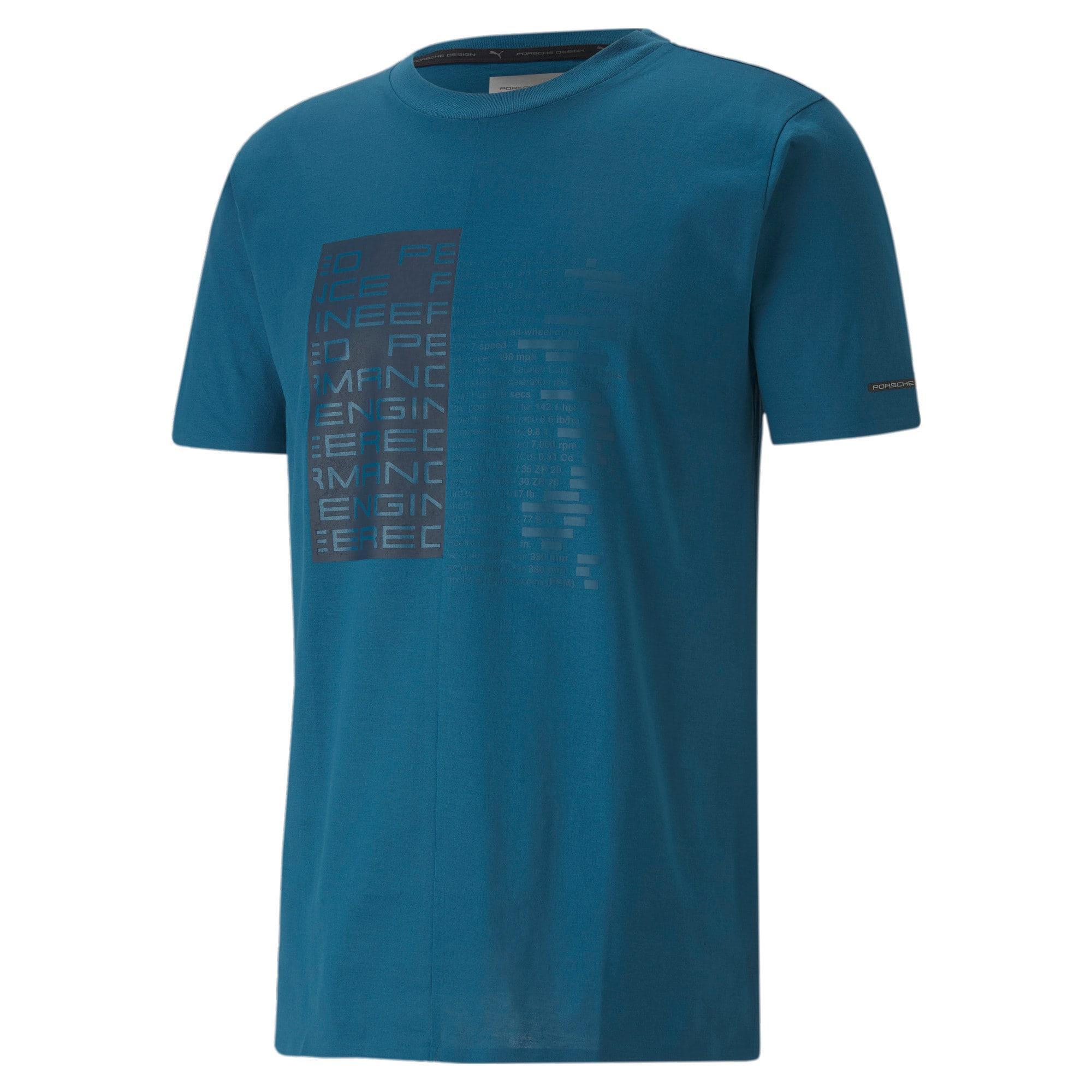 Thumbnail 4 of M ポルシェデザイン PD グラフィック Tシャツ, Moroccan Blue, medium-JPN