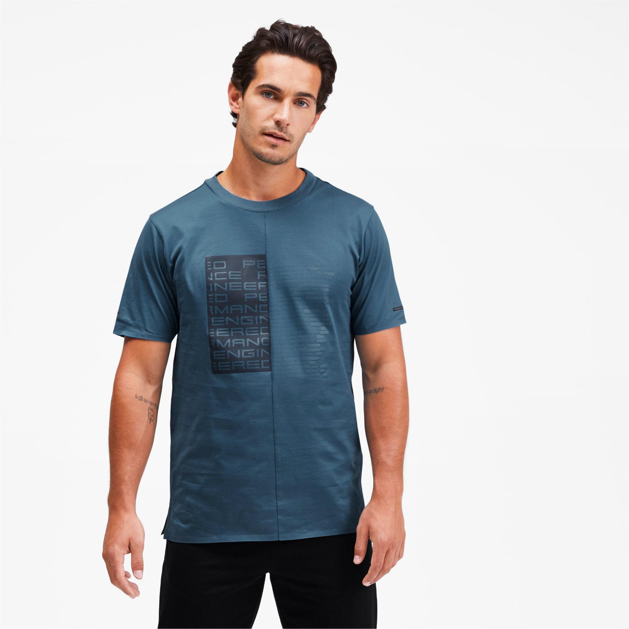 Thumbnail 1 of M ポルシェデザイン PD グラフィック Tシャツ, Moroccan Blue, medium-JPN