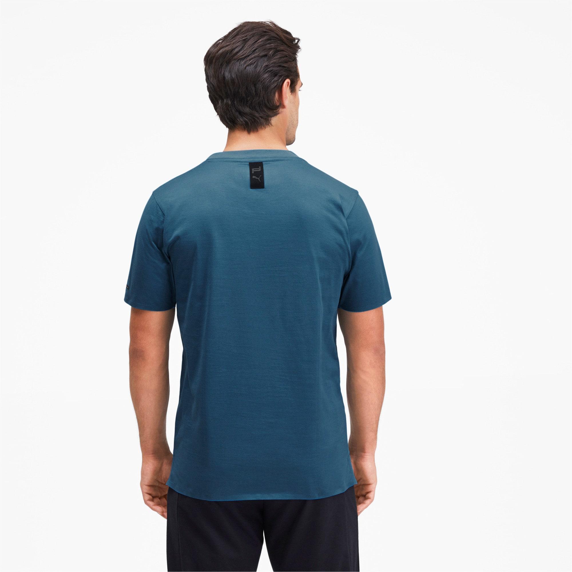 Thumbnail 2 of M ポルシェデザイン PD グラフィック Tシャツ, Moroccan Blue, medium-JPN