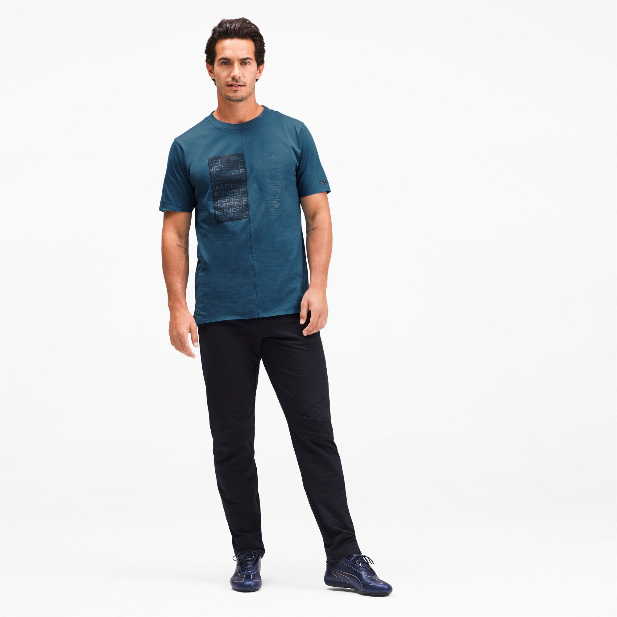 Thumbnail 3 of M ポルシェデザイン PD グラフィック Tシャツ, Moroccan Blue, medium-JPN
