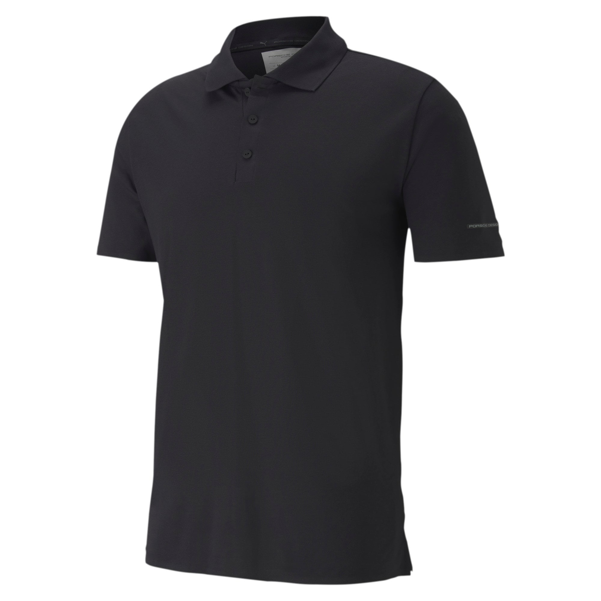 Thumbnail 4 of Men's Motorsports Polo, Jet Black, medium