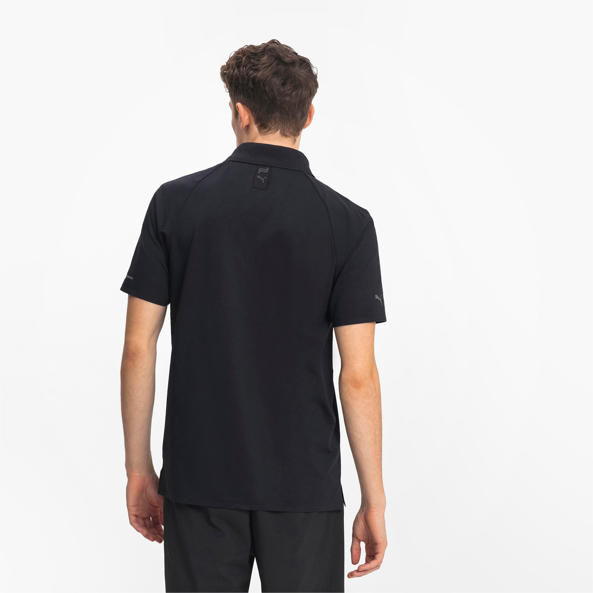 Thumbnail 2 of Porsche Design Herren Polo, Jet Black, medium