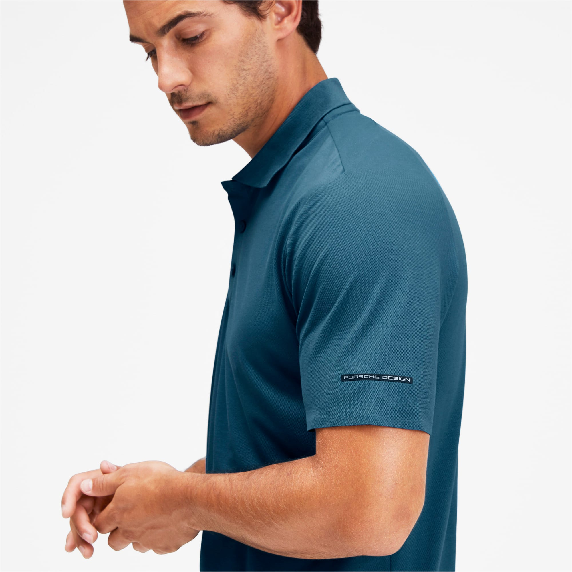 Thumbnail 6 of Men's Motorsports Polo, Moroccan Blue, medium