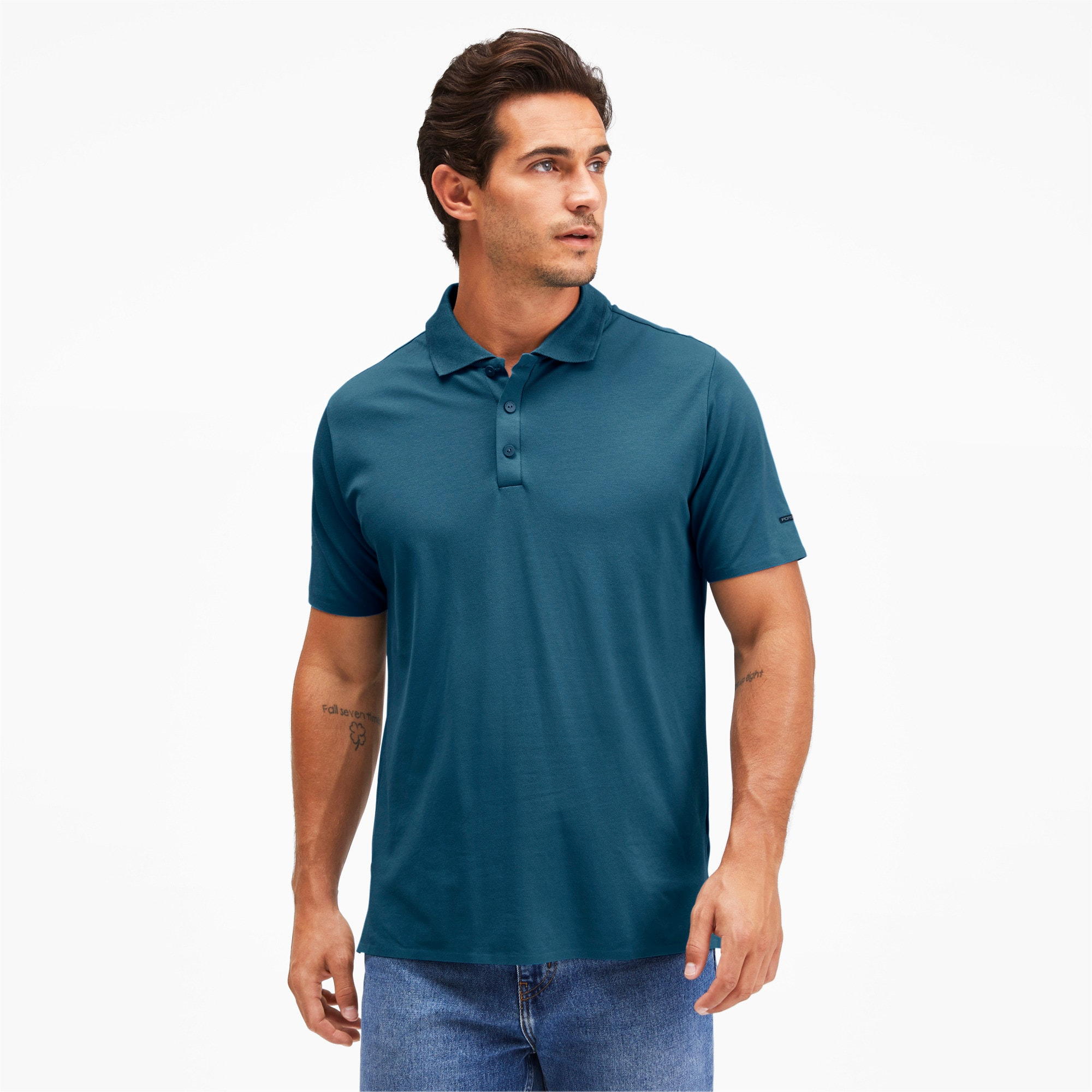 Thumbnail 1 of Men's Motorsports Polo, Moroccan Blue, medium