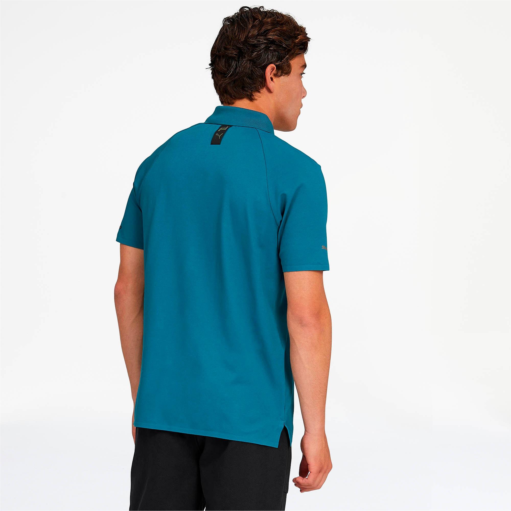 Thumbnail 2 of Porsche Design Men's Polo, Moroccan Blue, medium