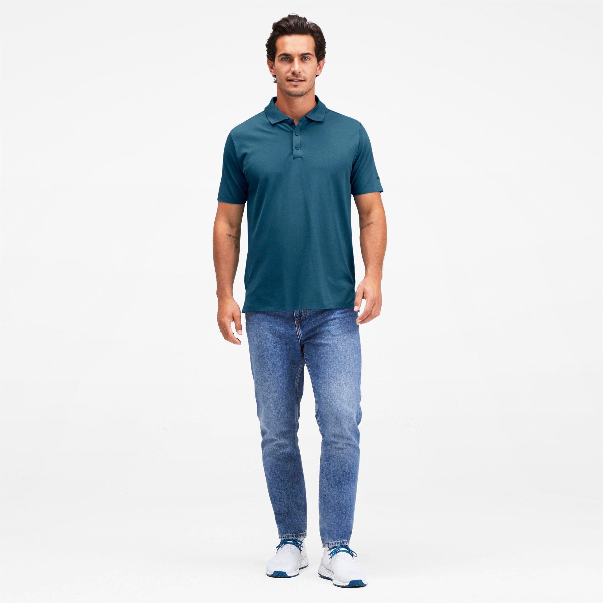 Thumbnail 3 of Men's Motorsports Polo, Moroccan Blue, medium