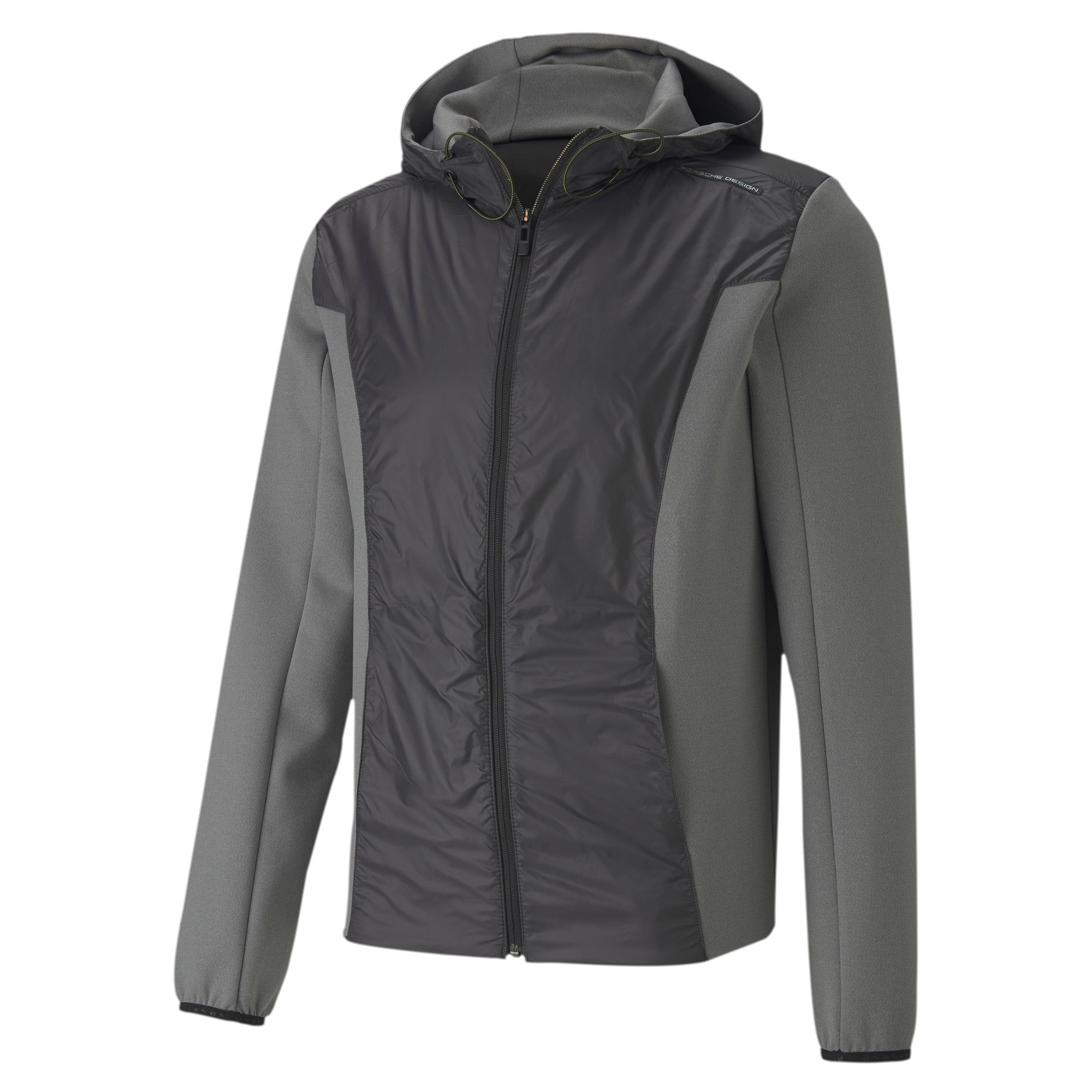 Thumbnail 4 of Porsche Design Spacer Hooded Men's Midlayer, Medium Gray Heather, medium