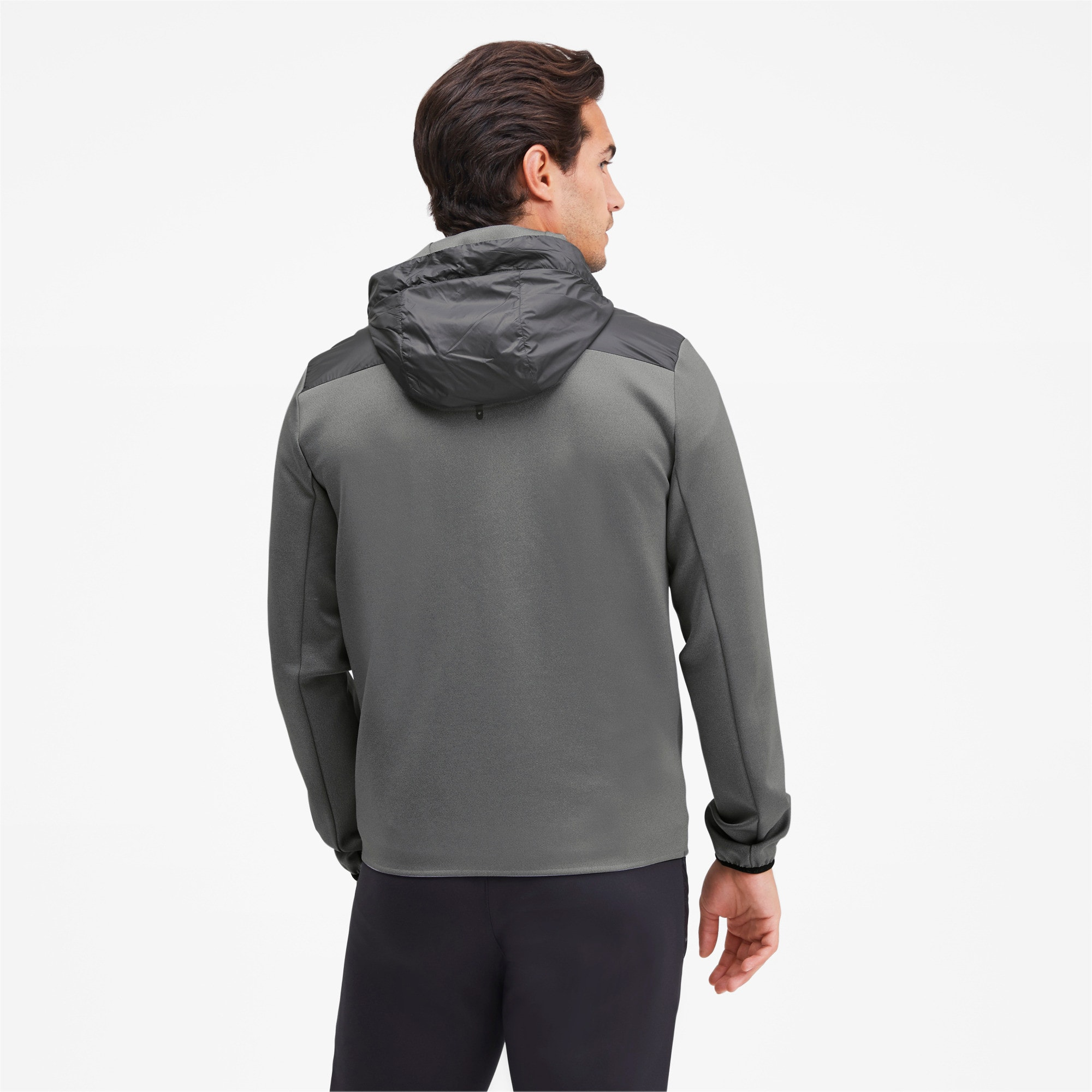 Thumbnail 2 of Porsche Design Spacer Hooded Men's Midlayer, Medium Gray Heather, medium