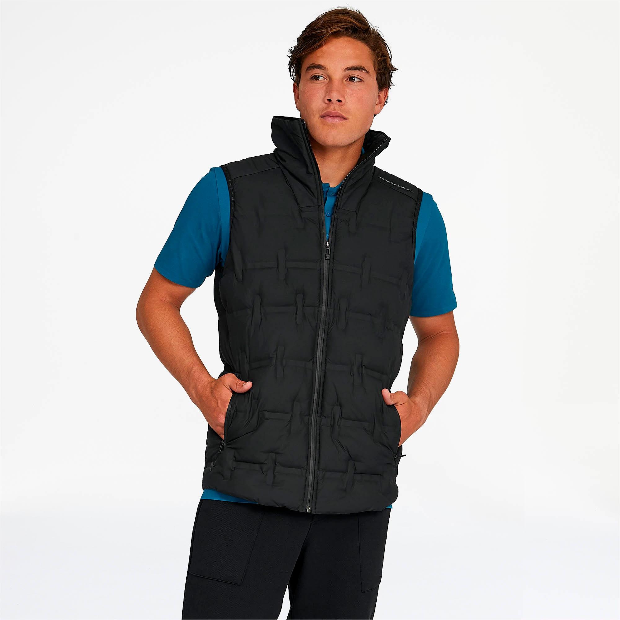Thumbnail 1 of Porsche Design Men's Padded Vest, Jet Black, medium