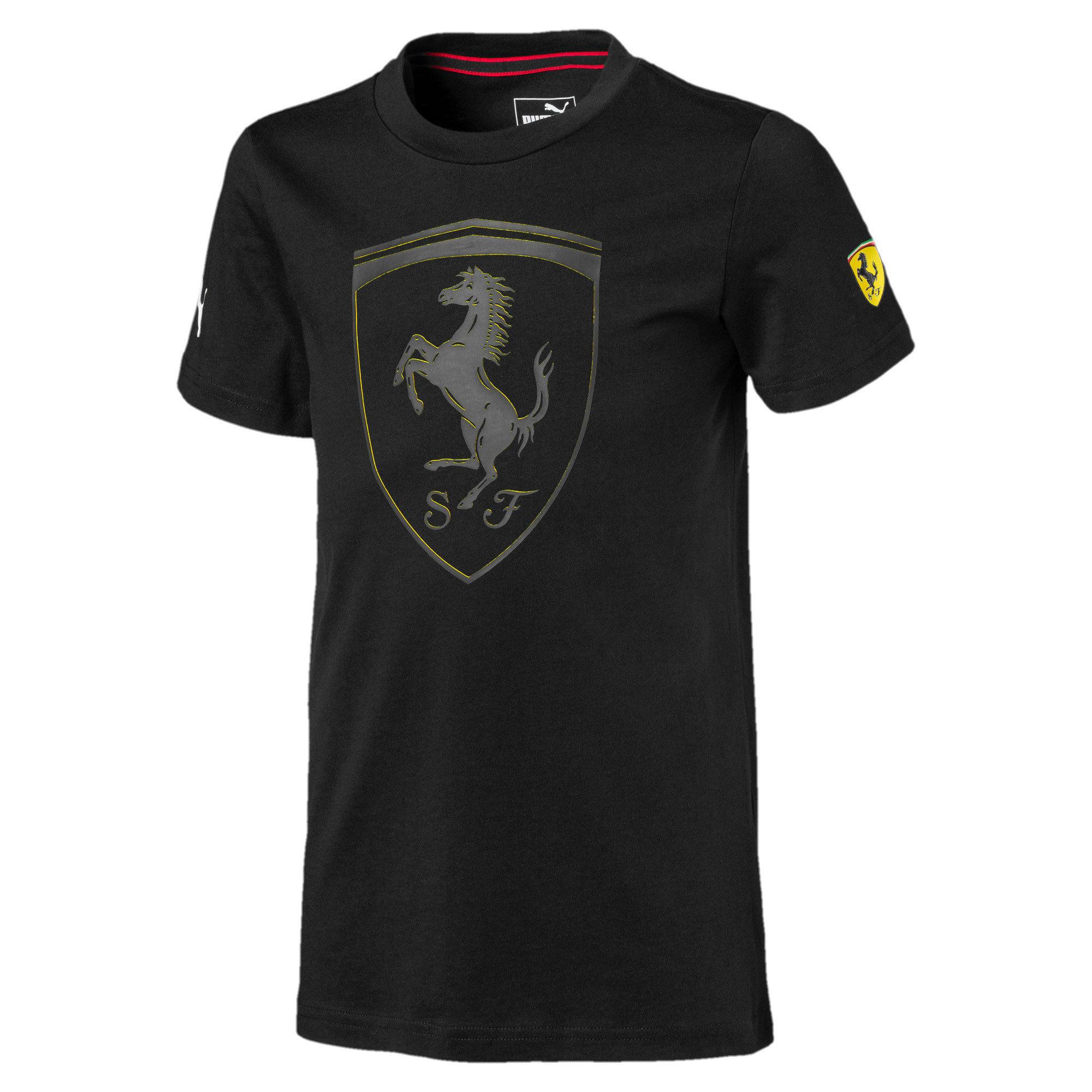 Thumbnail 1 van Ferrari T-shirt met groot schild voor jongens, Puma Black, medium