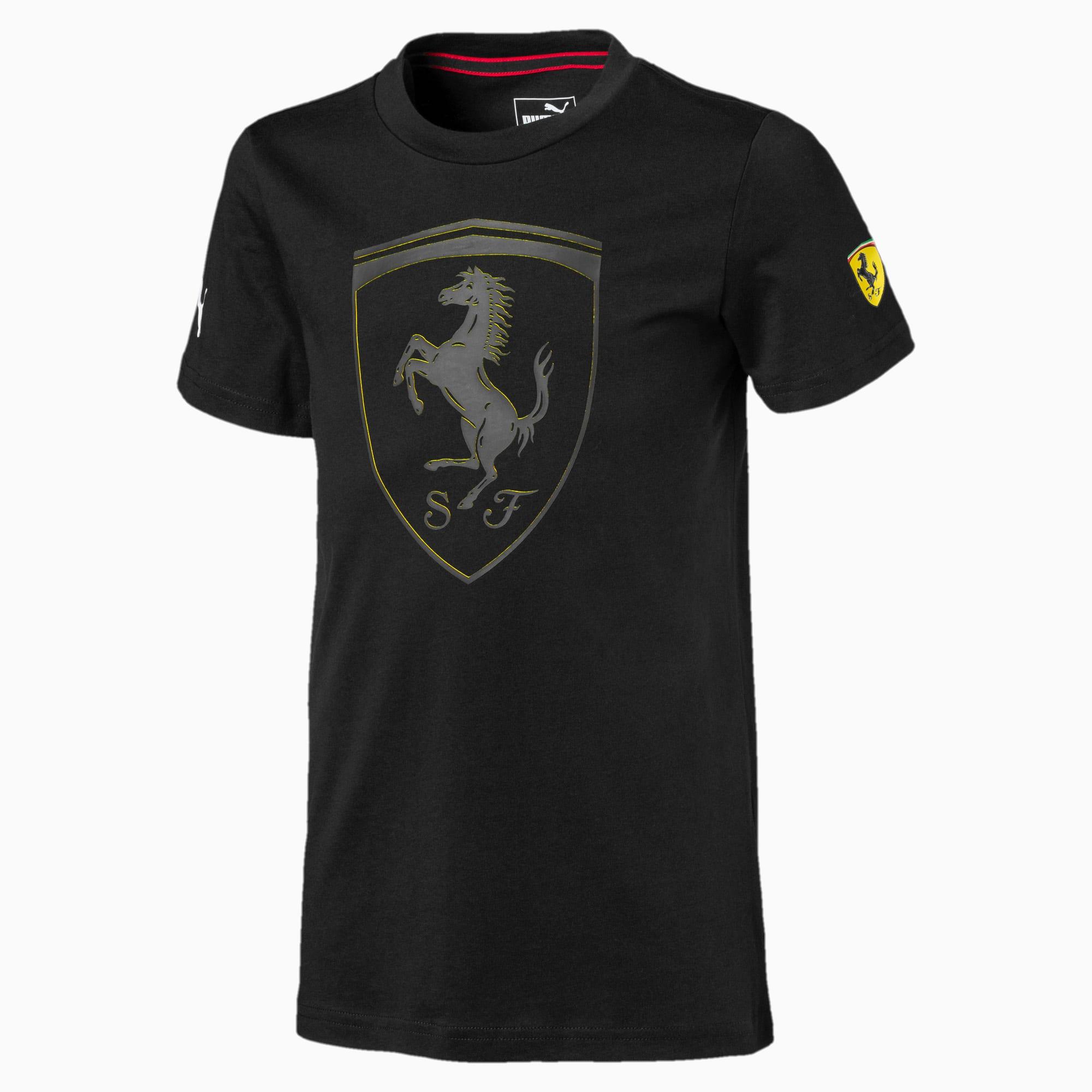 lexicon the purpose mainly  T-shirt con stemma grande Ferrari bambino   PUMA Scuderia Ferrari   PUMA  Italia