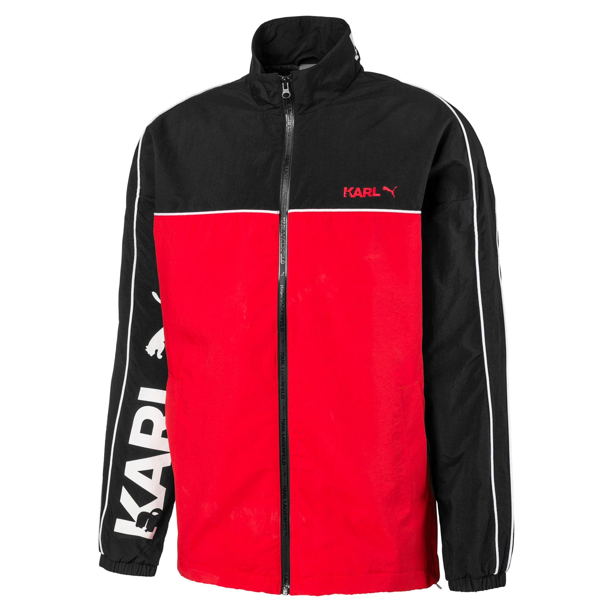 Thumbnail 4 of PUMA x KARL LAGERFELD Full Zip Men's Track Jacket, Puma Black, medium