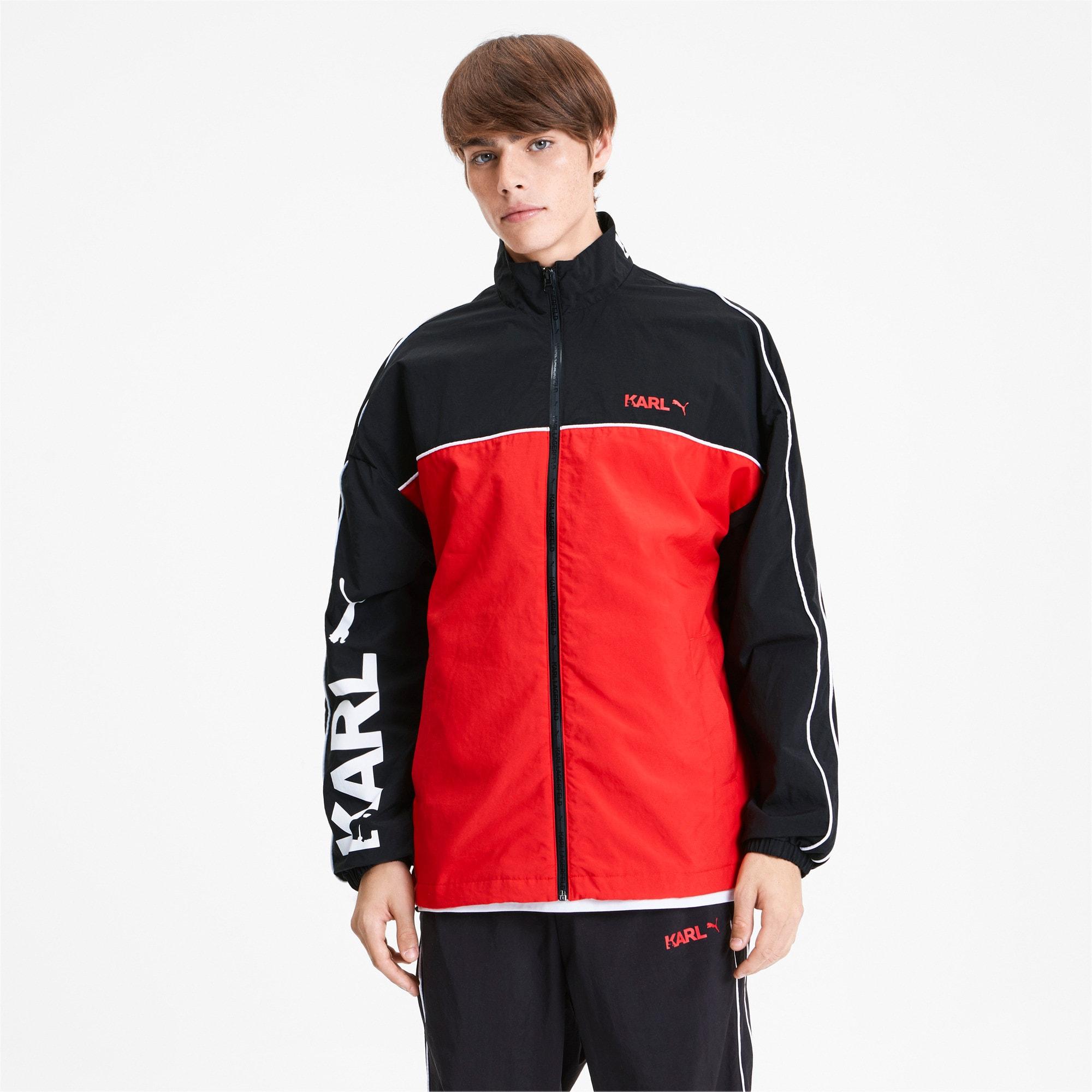 Thumbnail 1 of PUMA x KARL LAGERFELD Full Zip Men's Track Jacket, Puma Black, medium