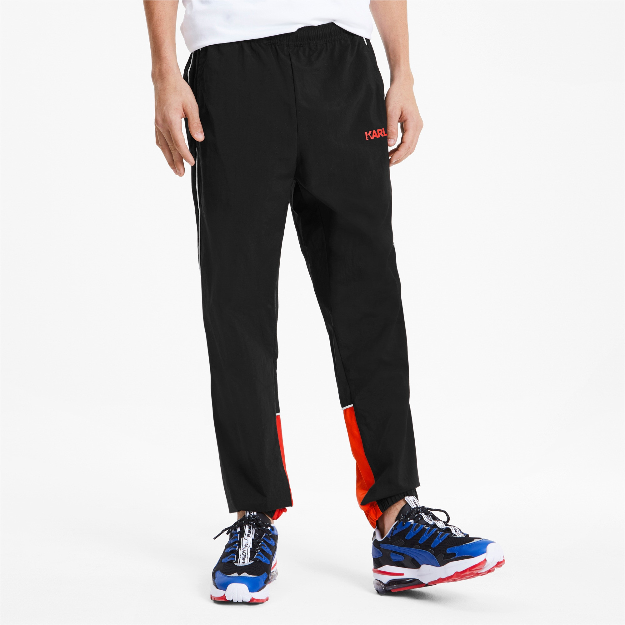 Thumbnail 1 of PUMA x KARL LAGERFELD Knitted Men's Track Pants, Puma Black, medium