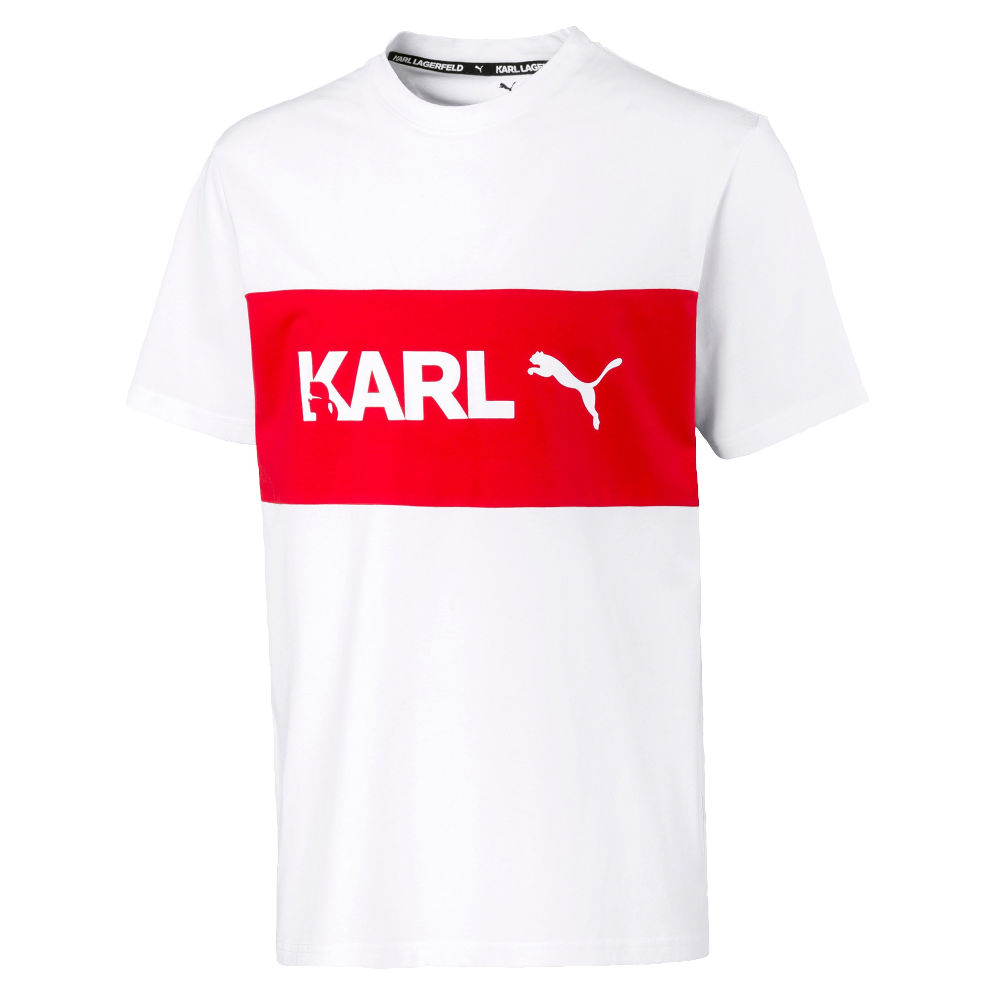 Thumbnail 4 of PUMA x KARL LAGERFELD Herren T-Shirt, Puma White, medium