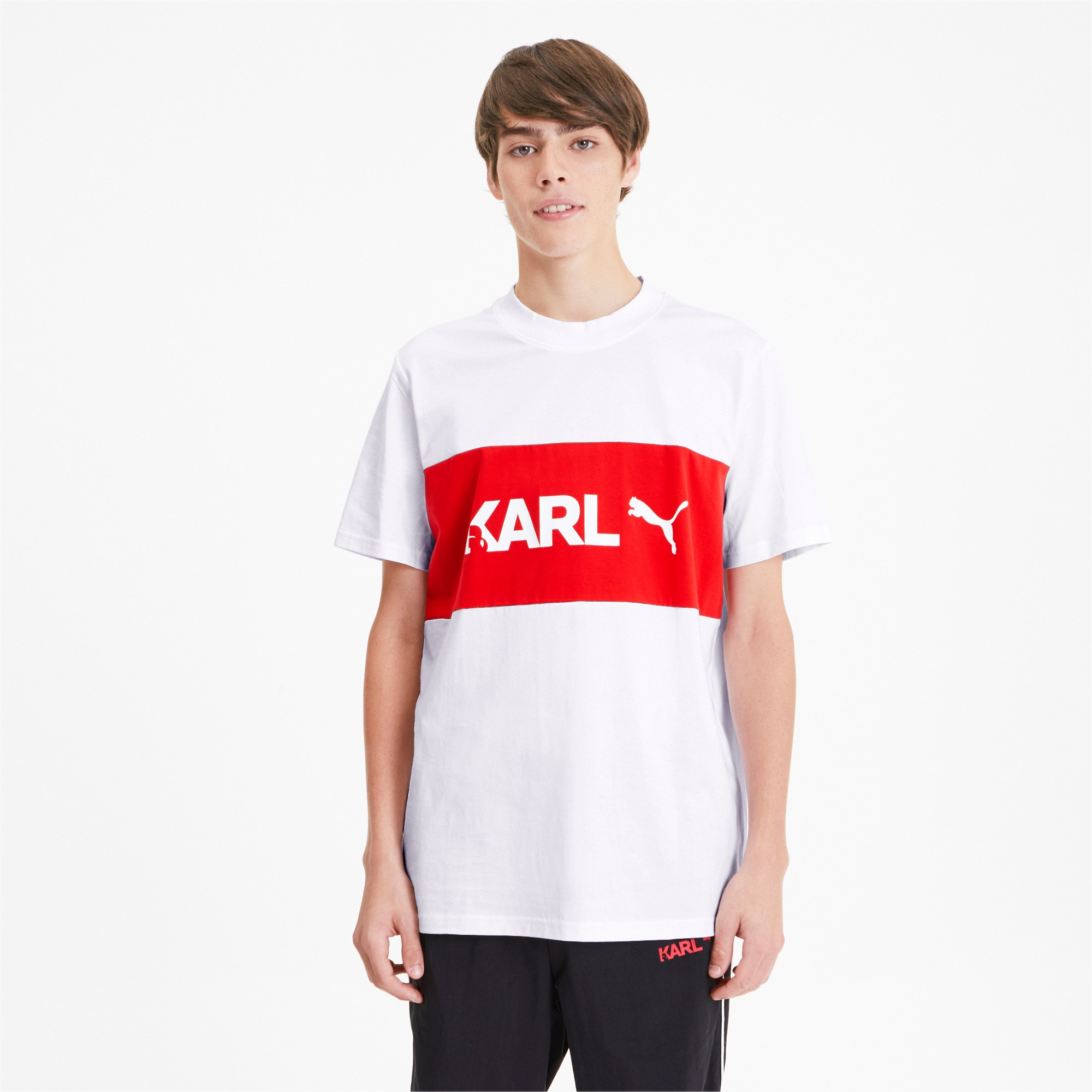 Thumbnail 1 of PUMA x KARL LAGERFELD Herren T-Shirt, Puma White, medium